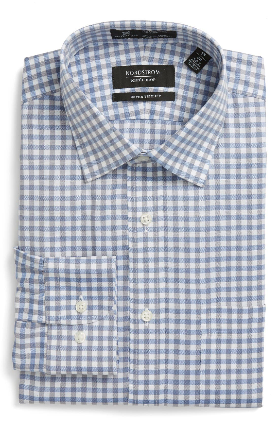NORDSTROM MEN'S SHOP Smartcare™ Extra Trim Fit Check