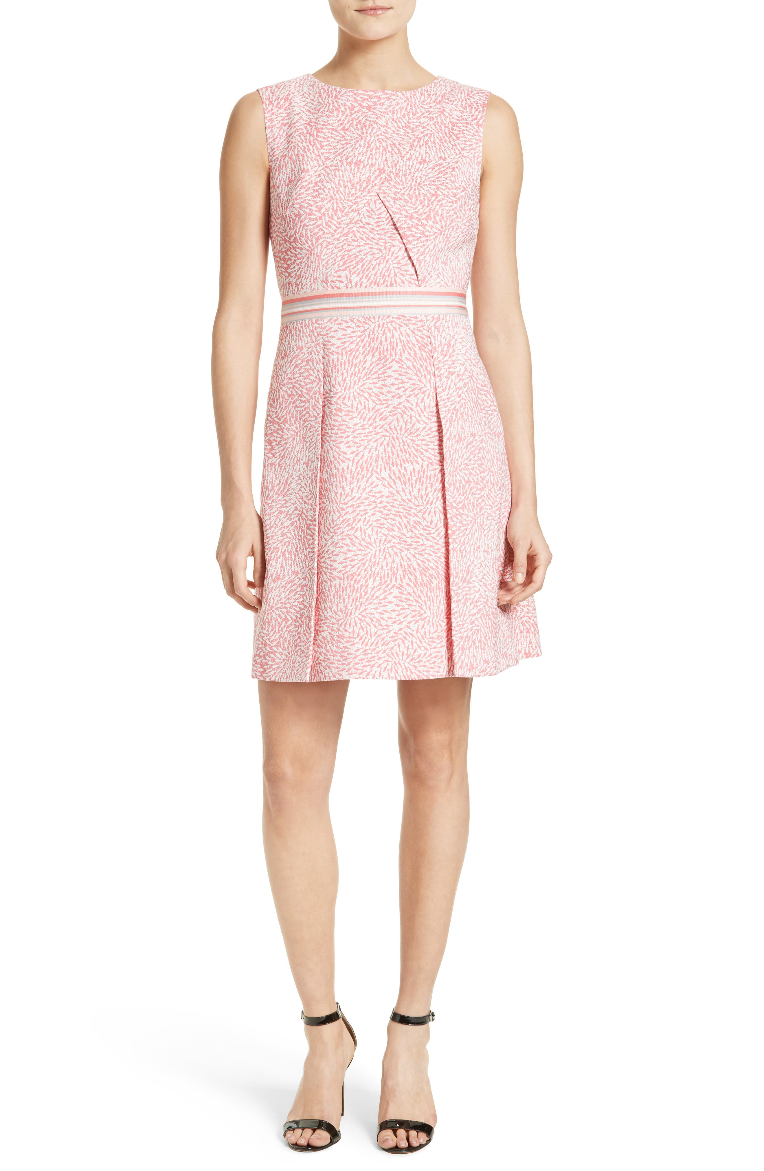 Ted Baker London Fish Print Fit & Flare Dress