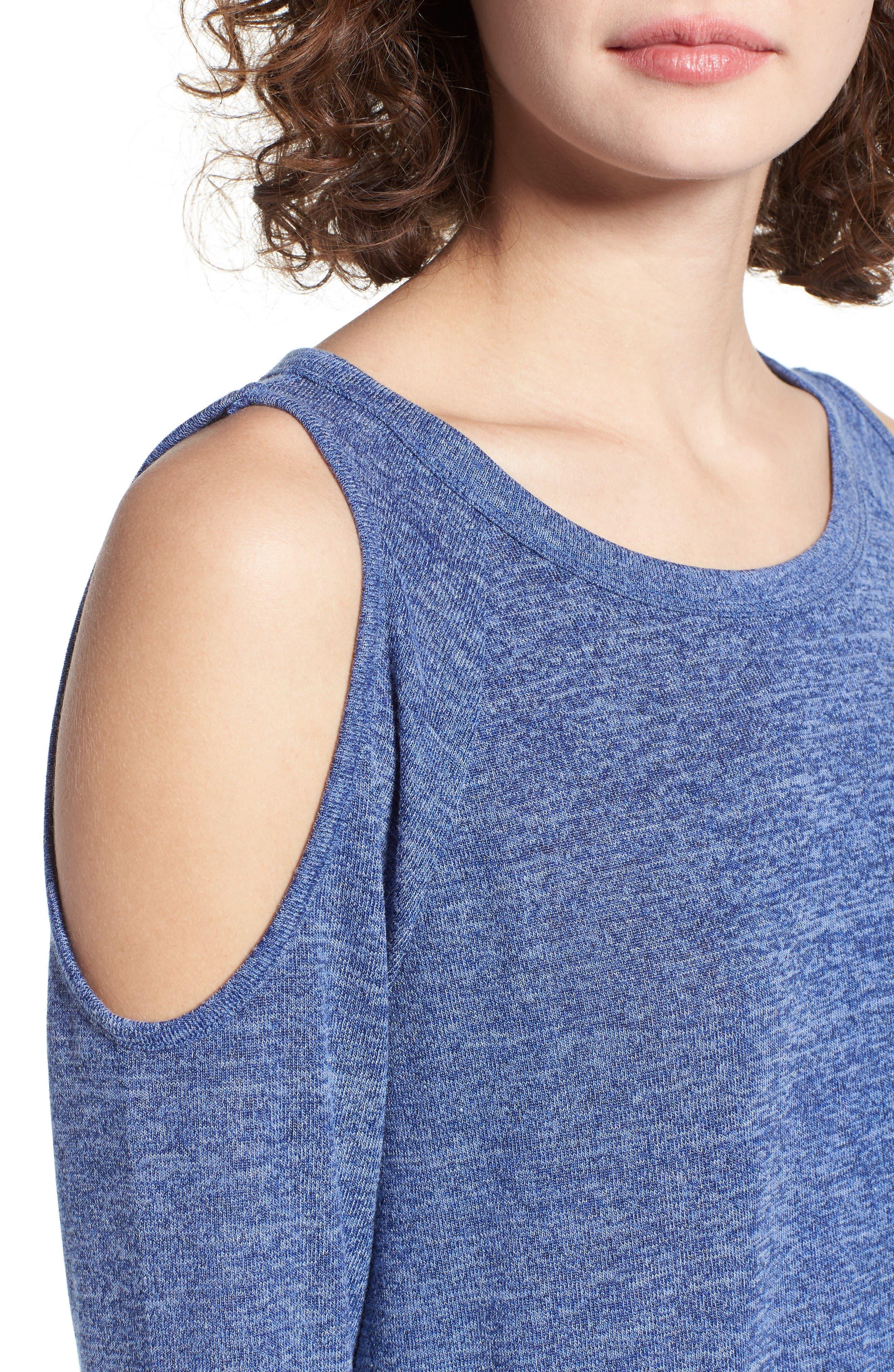 Alternate Image 4  - BP. Cold Shoulder Sweatshirt