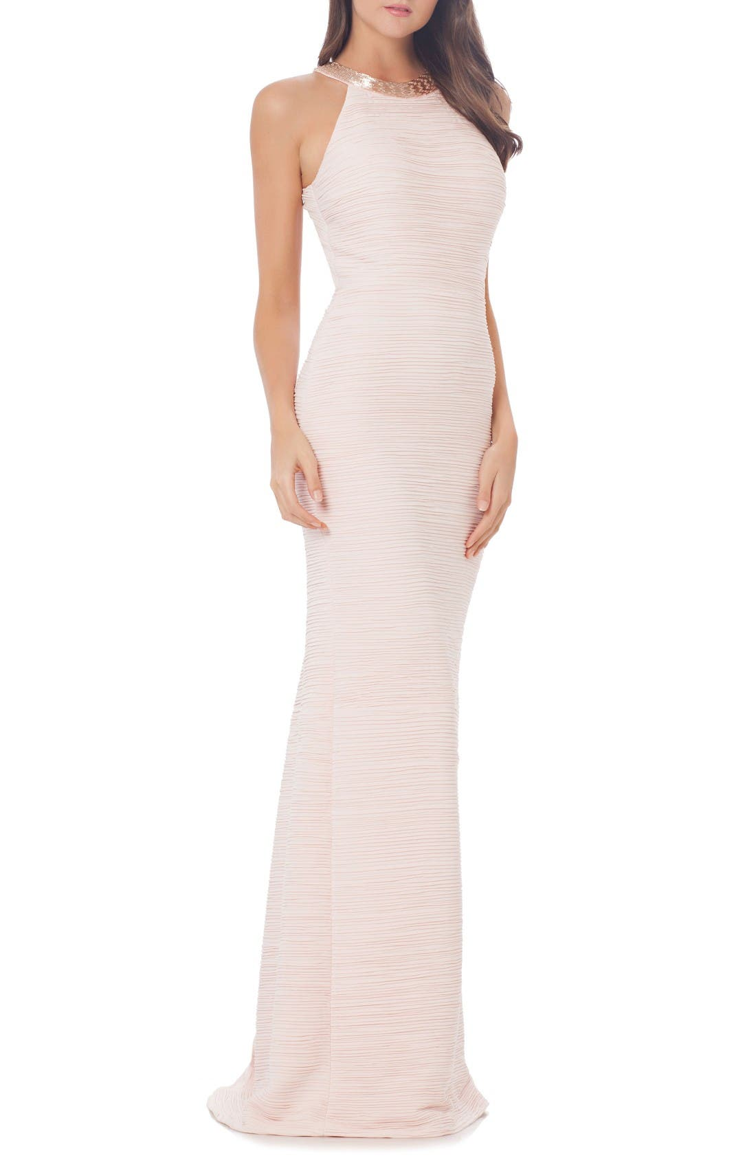 Alternate Image 1 Selected - Carmen Marc Valvo Infusion Mermaid Gown