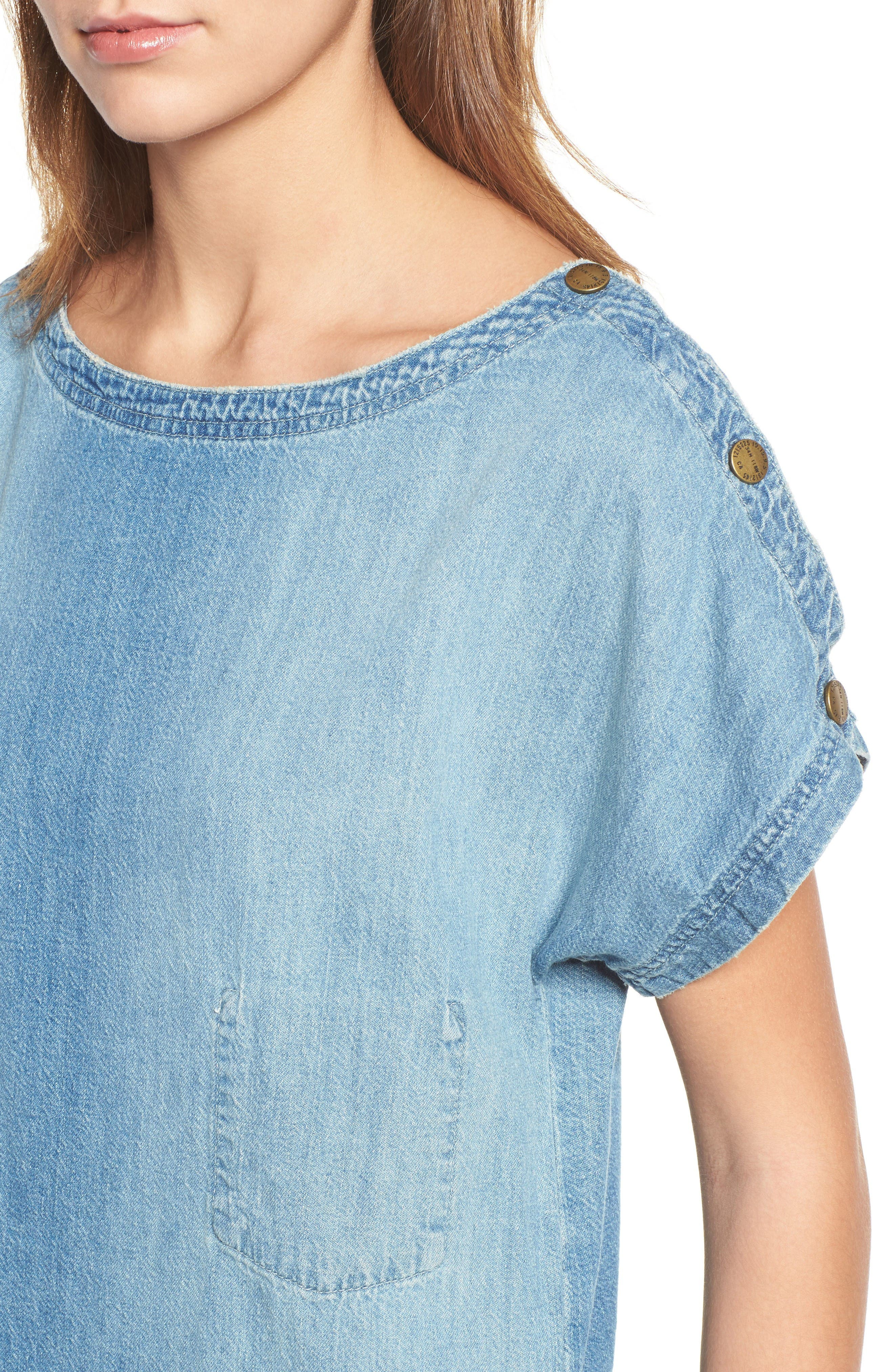 Alternate Image 4  - Current/Elliott Denim T-Shirt Dress