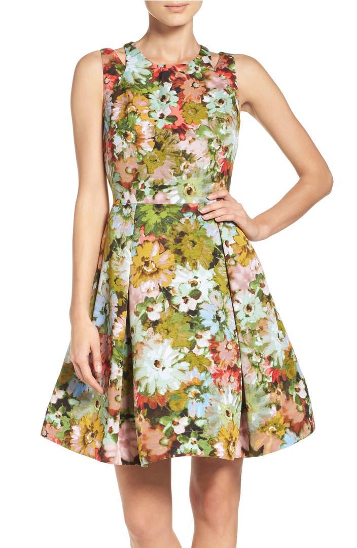 Taylor Dresses Vintage Floral Fit Amp Flare Dress Nordstrom
