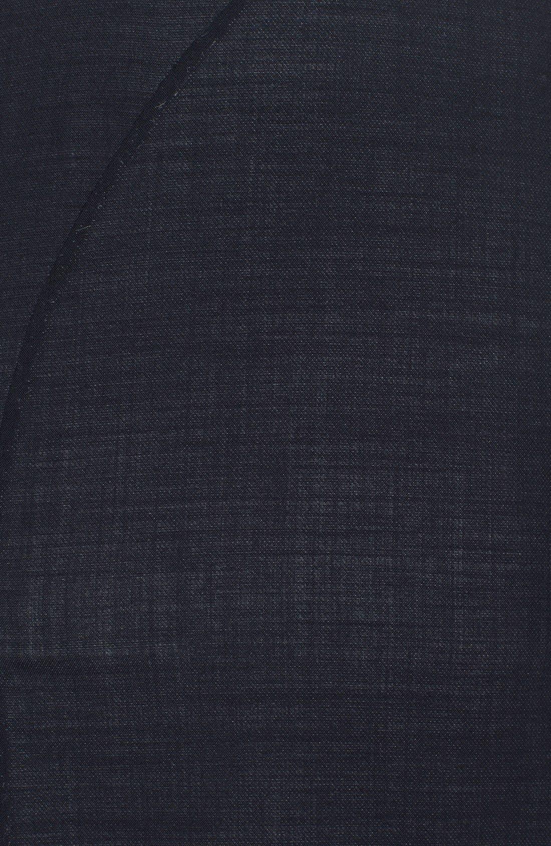 Alternate Image 3  - Oscar de la Renta Folded Double-Face Wool Blend Pencil Dress