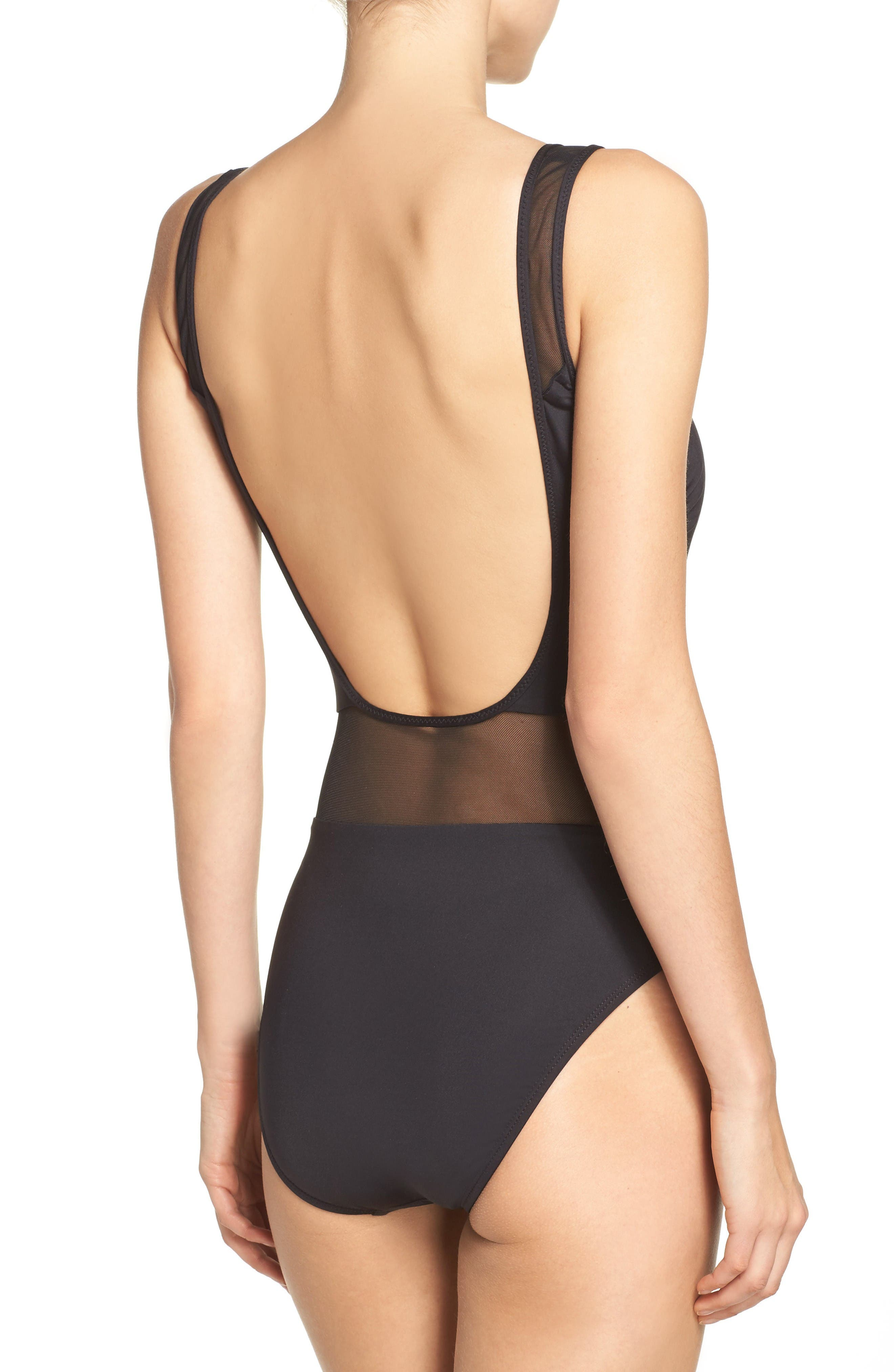 Alternate Image 2  - Kenneth Cole Mesh One-Piece Swimsuit
