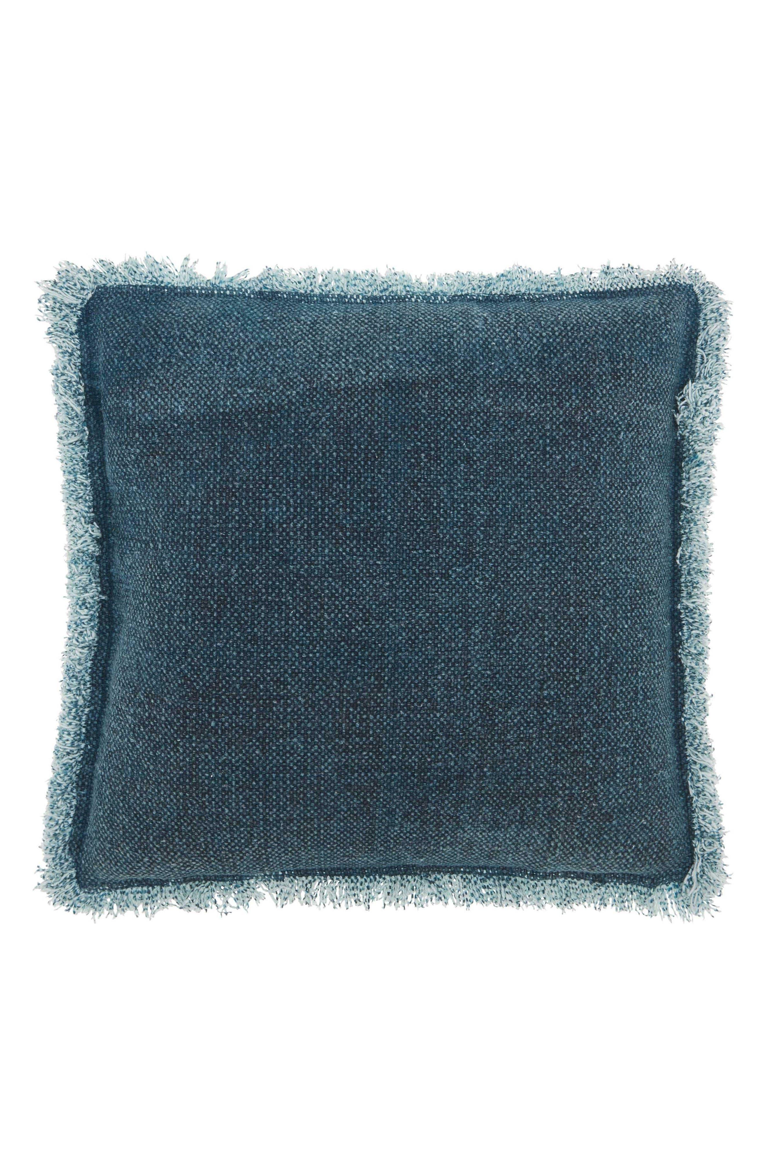 Mina Victory Stonewash Fringe Accent Pillow