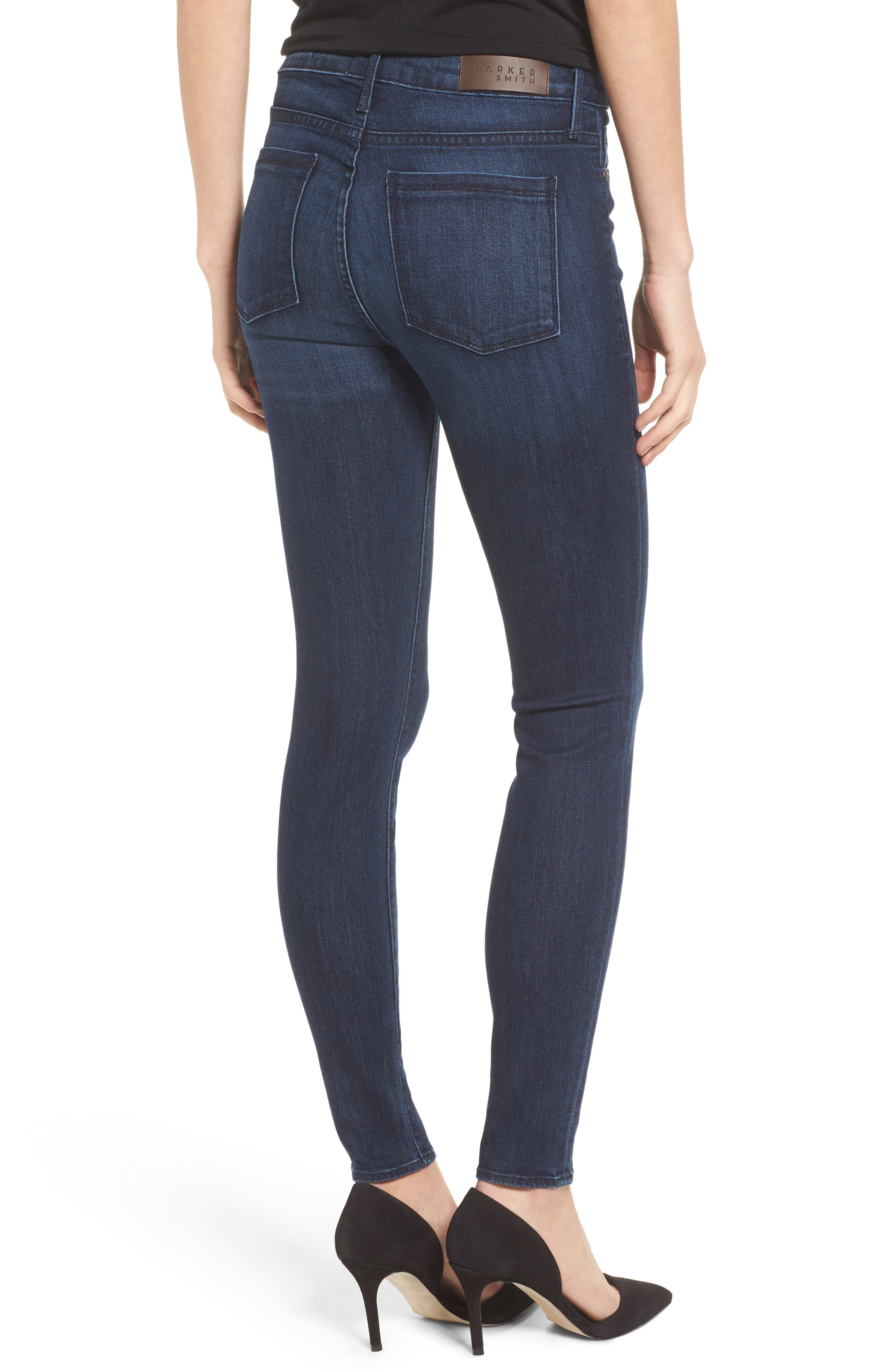 Alternate Image 2  - PARKER SMITH Bombshell High Waist Stretch Skinny Jeans (Baltic)