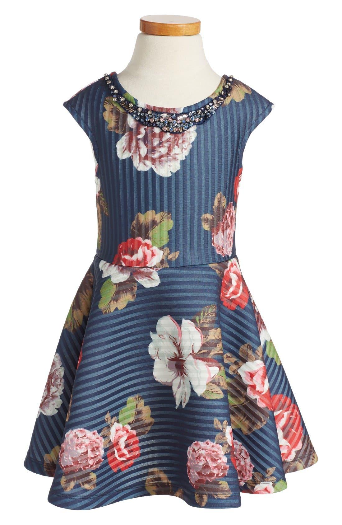 HANNAH BANANA Floral Print Scuba Dress