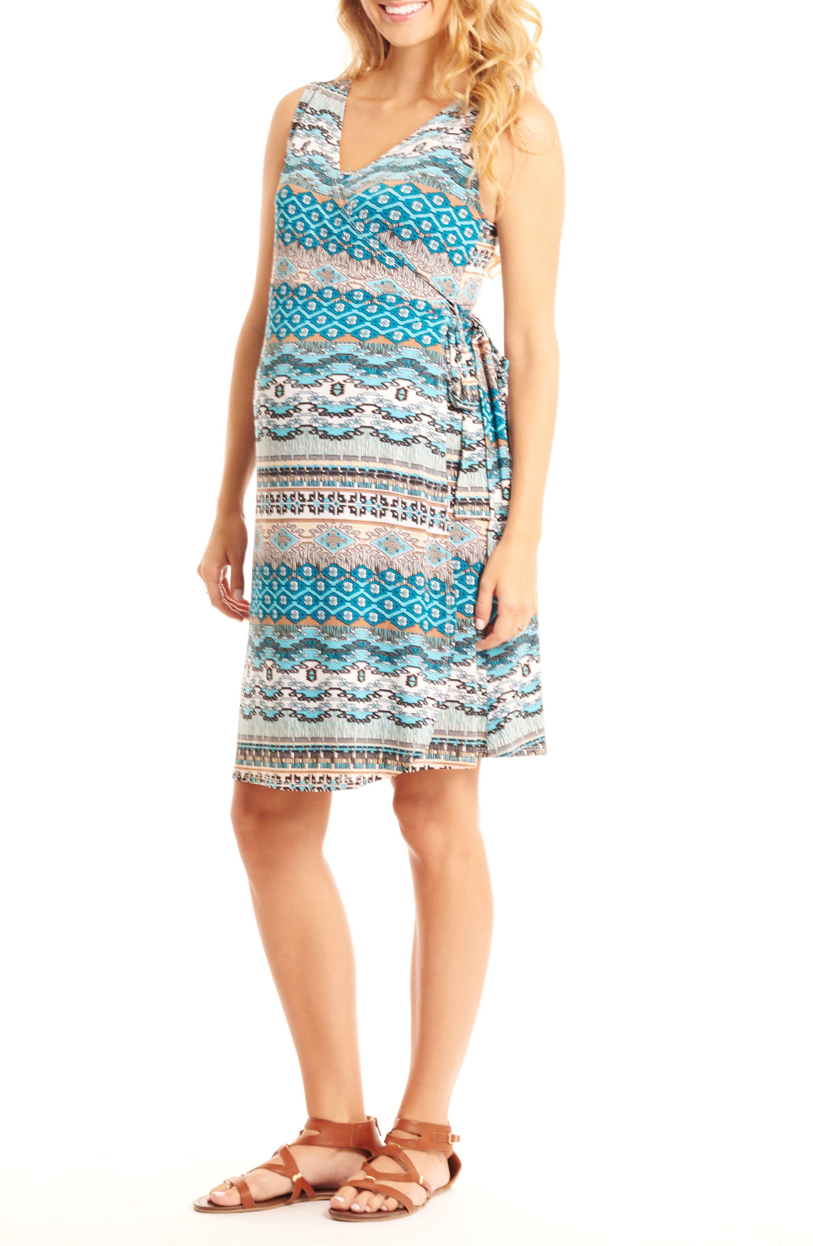 Everly Grey 'Tania' Sleeveless Maternity/Nursing Wrap Dress