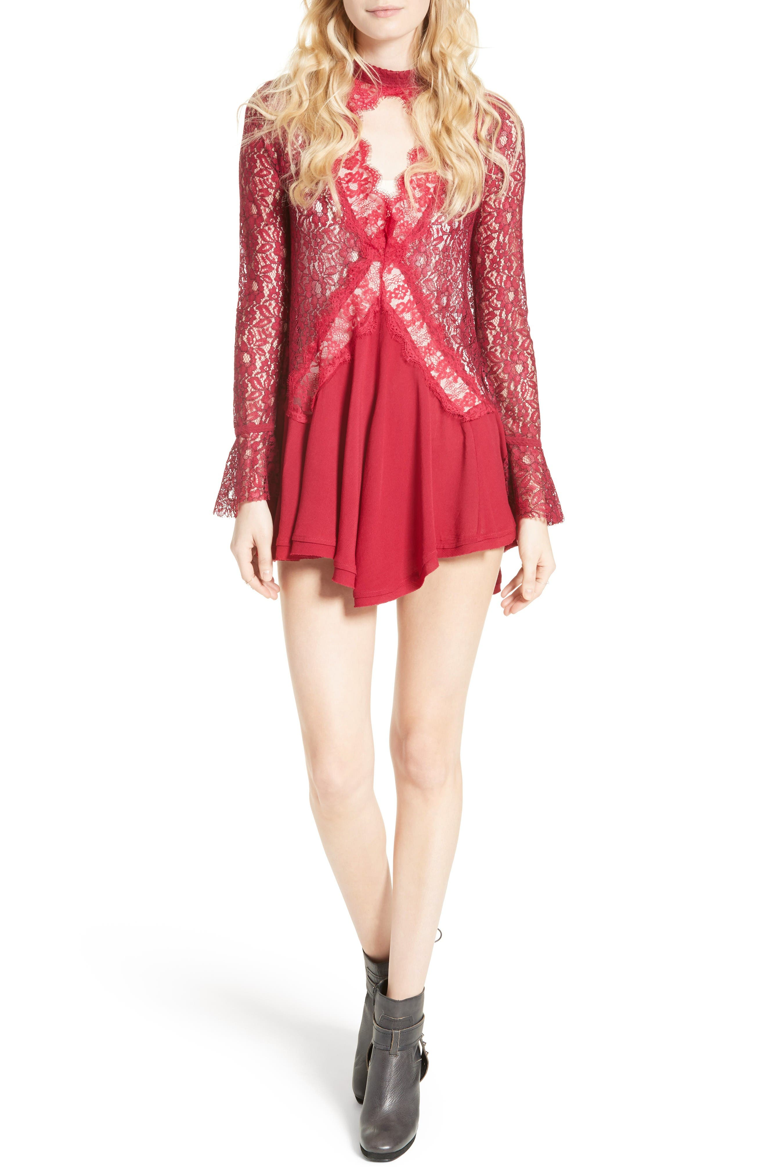 Alternate Image 1 Selected - Free People New Tell Tale Lace Minidress