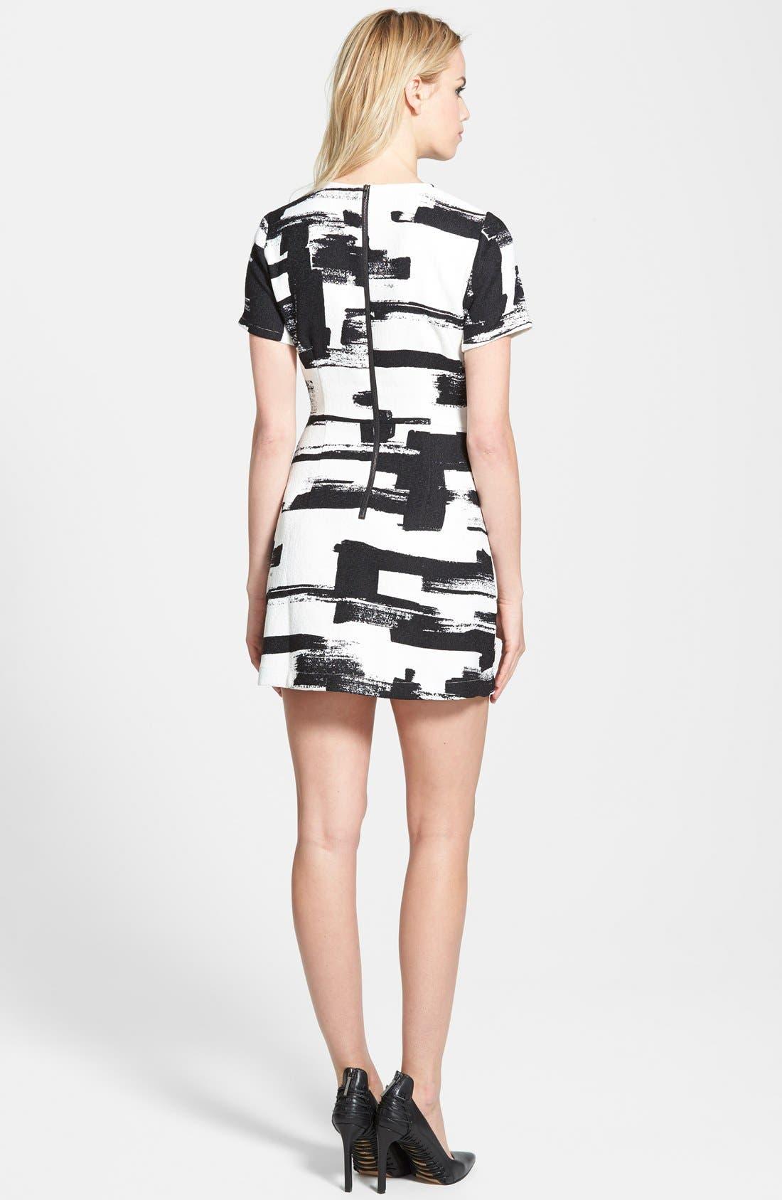 Alternate Image 2  - re:named Paneled Short Sleeve Dress