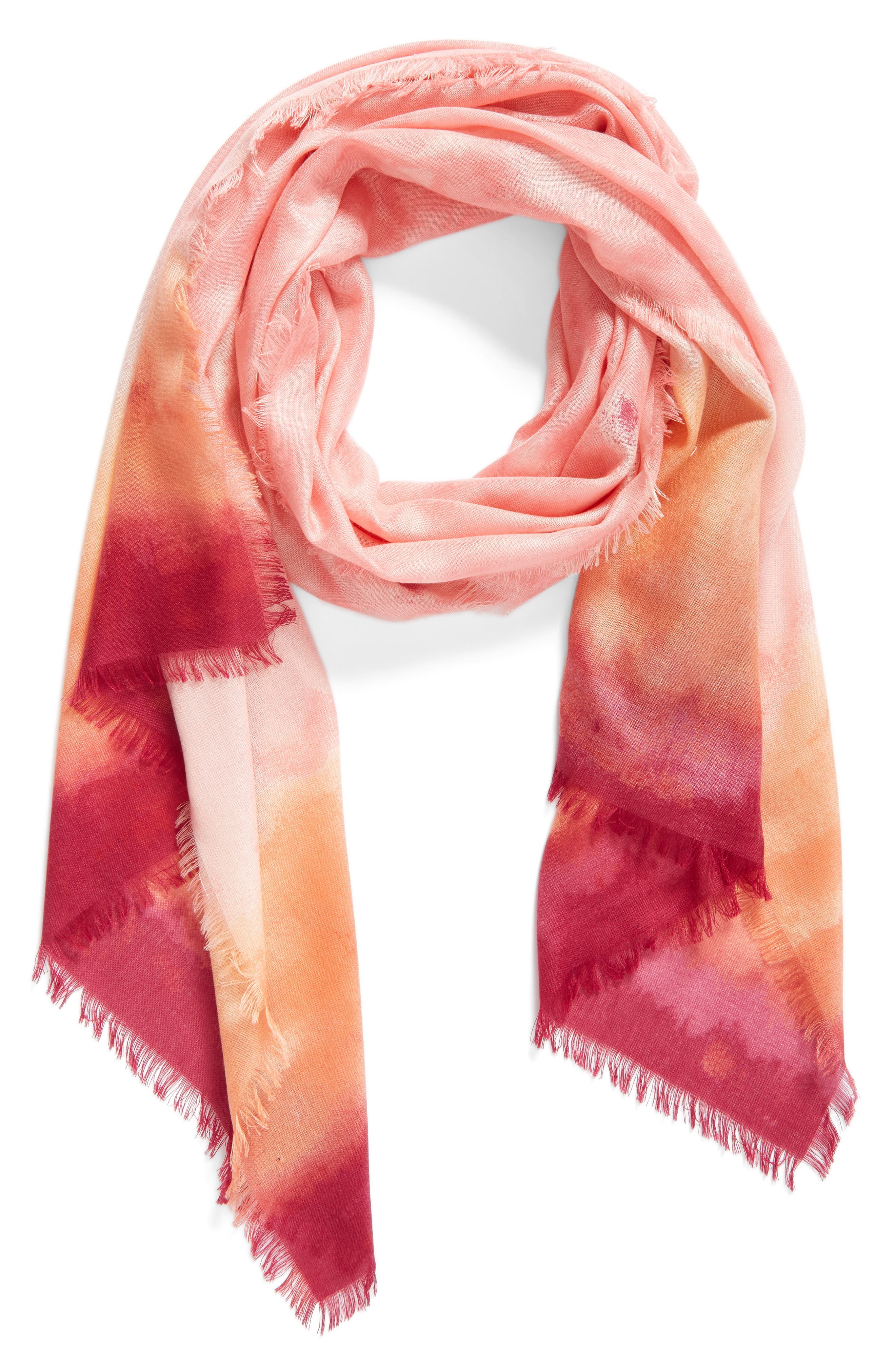 Alternate Image 1 Selected - Nordstrom Saharan Colorwash Cashmere & Silk Scarf
