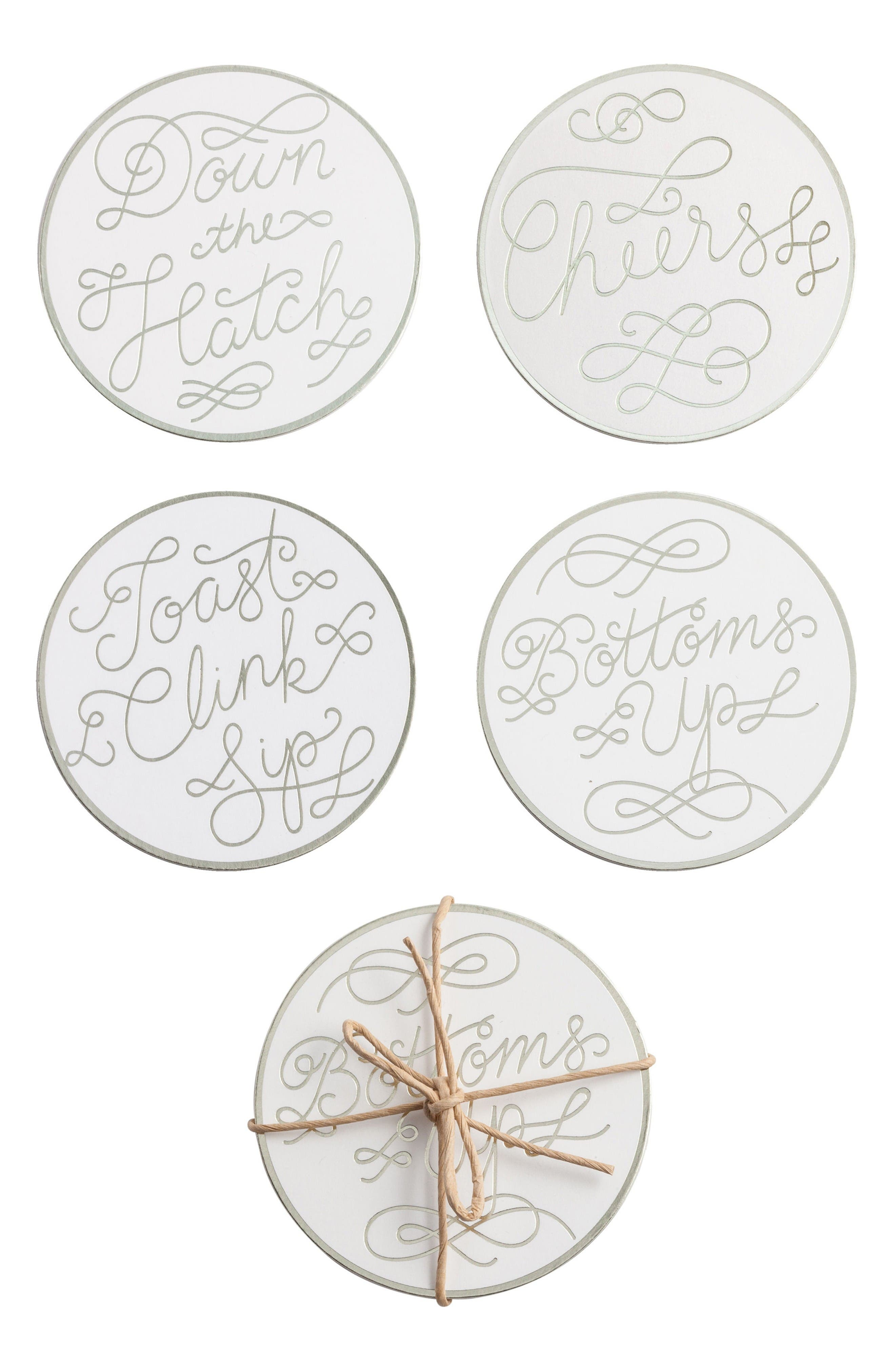 ROSANNA Cheers Set of 8 Paper Coasters