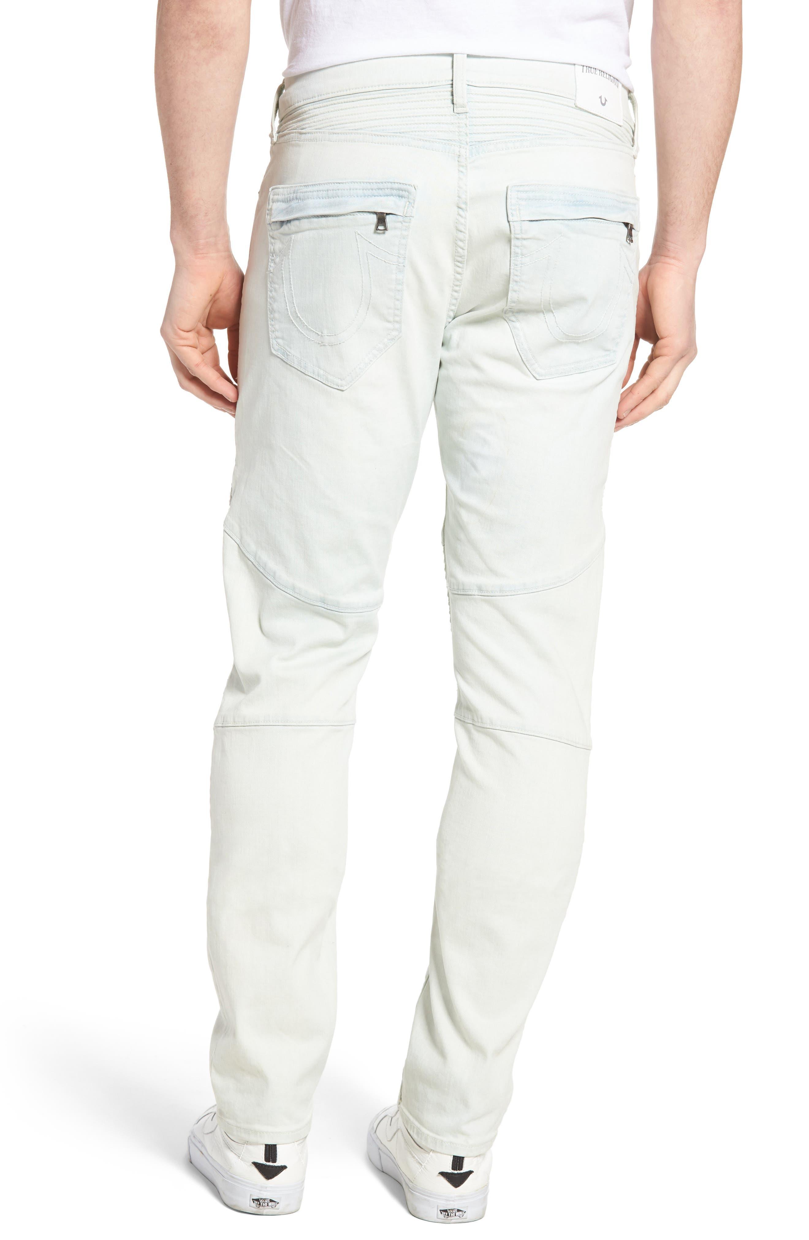 Alternate Image 2  - True Religion Brand Jeans Rocco Skinny Fit Moto Jeans (Light Daze)