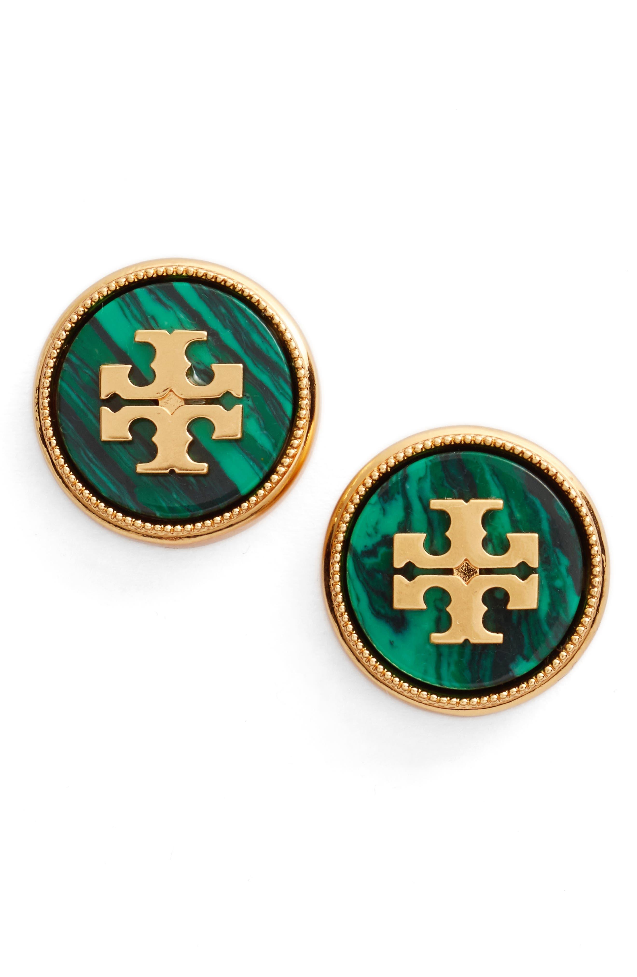 Tory Burch Semiprecious Stone Stud Earrings