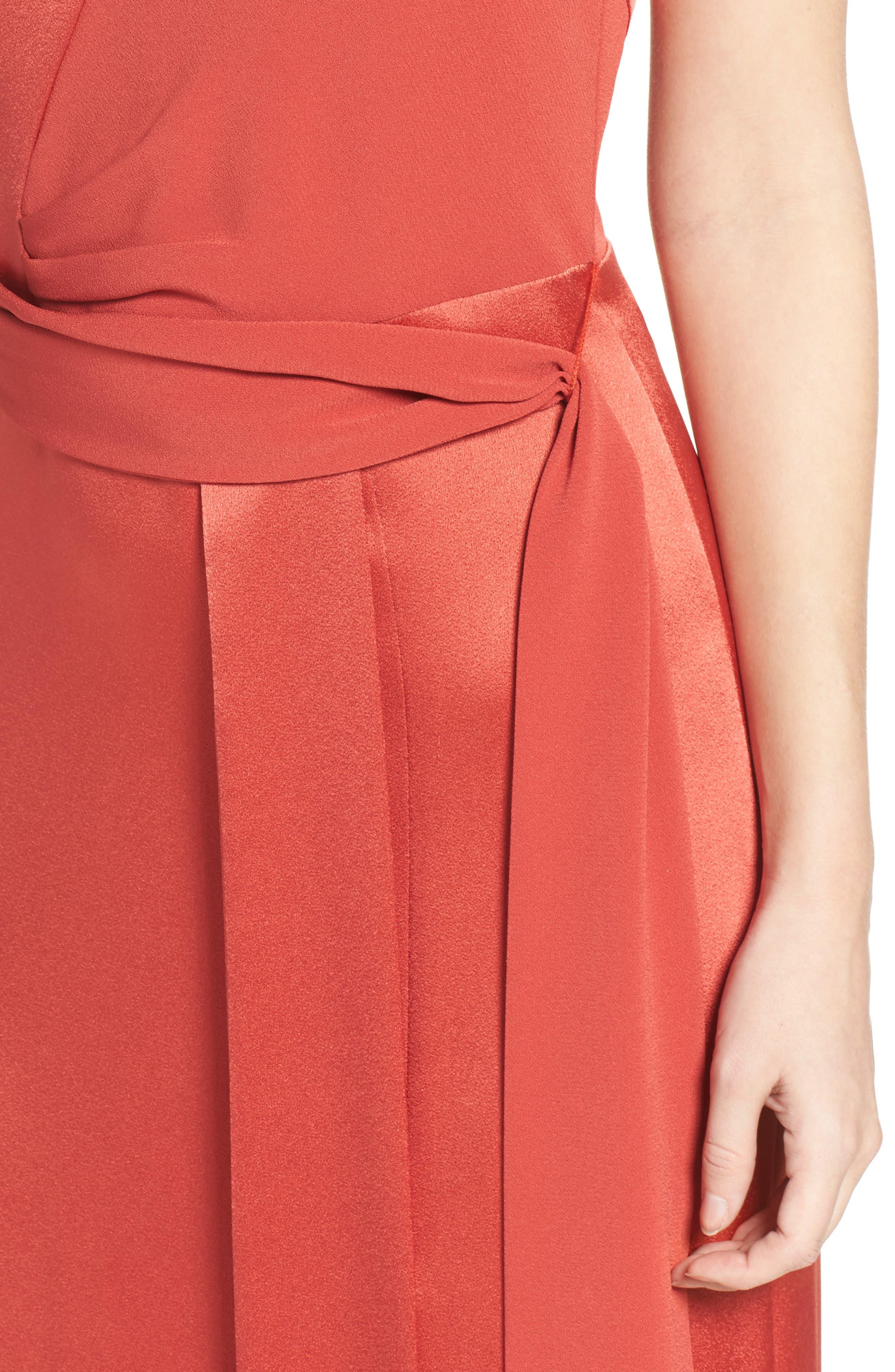 Alternate Image 4  - Halston Heritage Satin Gown