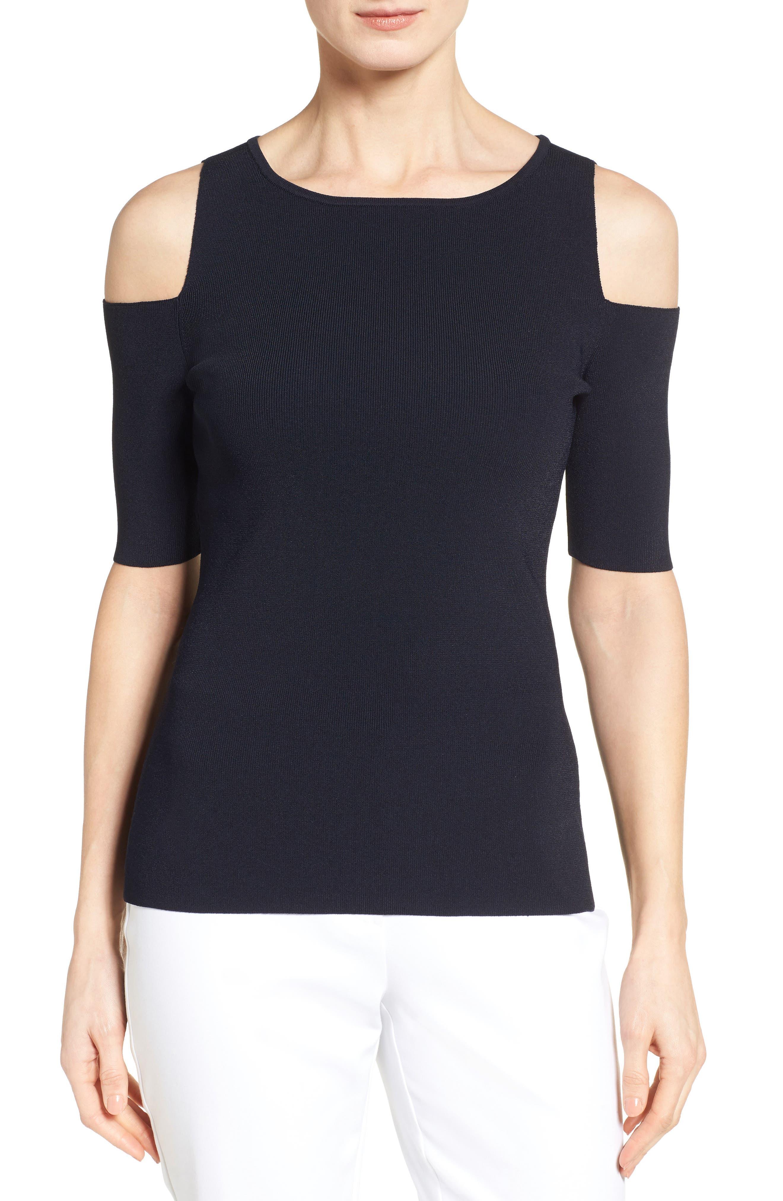 Classiques Entier® Knit Cold Shoulder Top