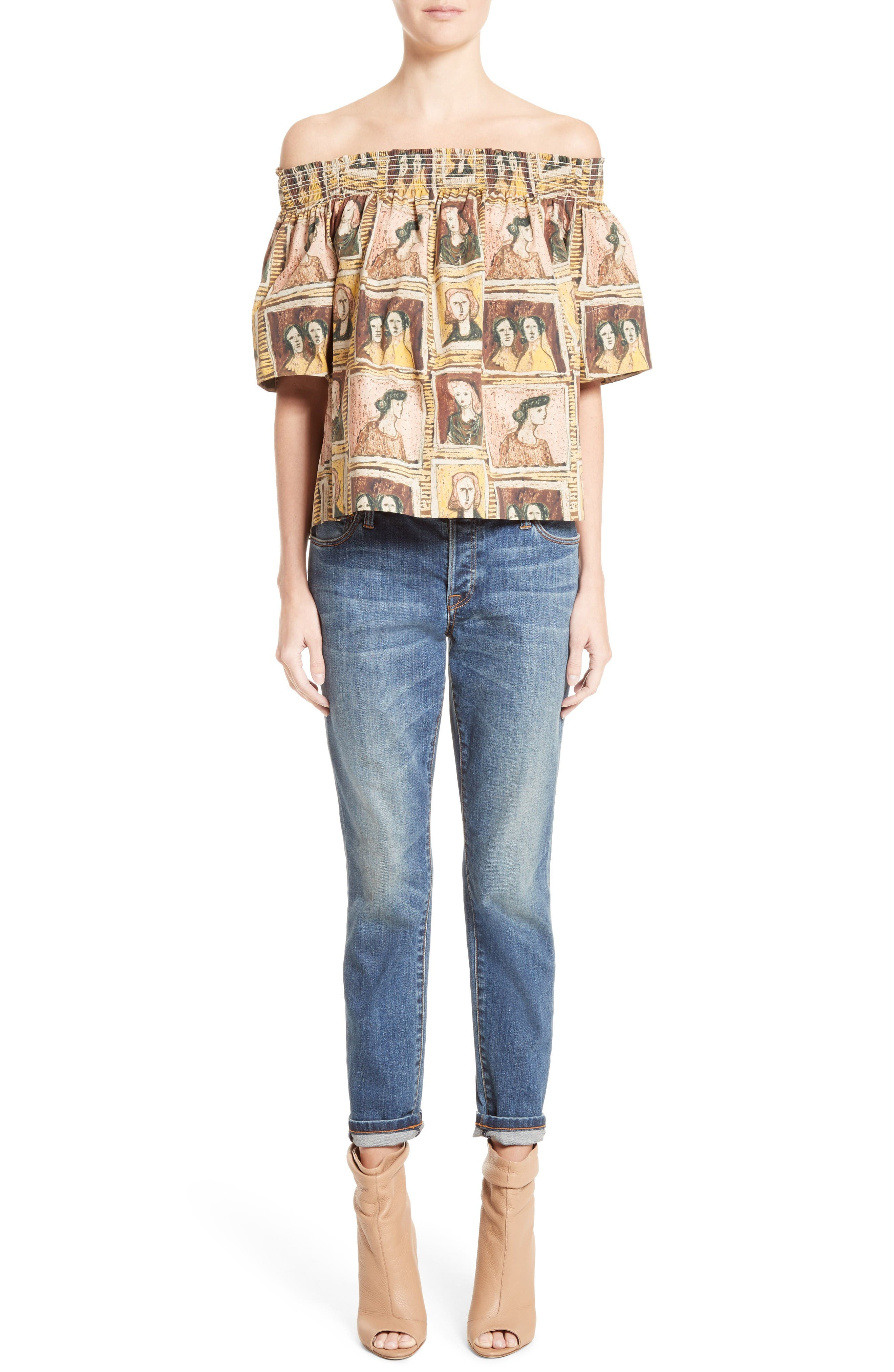 Alternate Image 7  - Burberry Relaxed Skinny Jeans