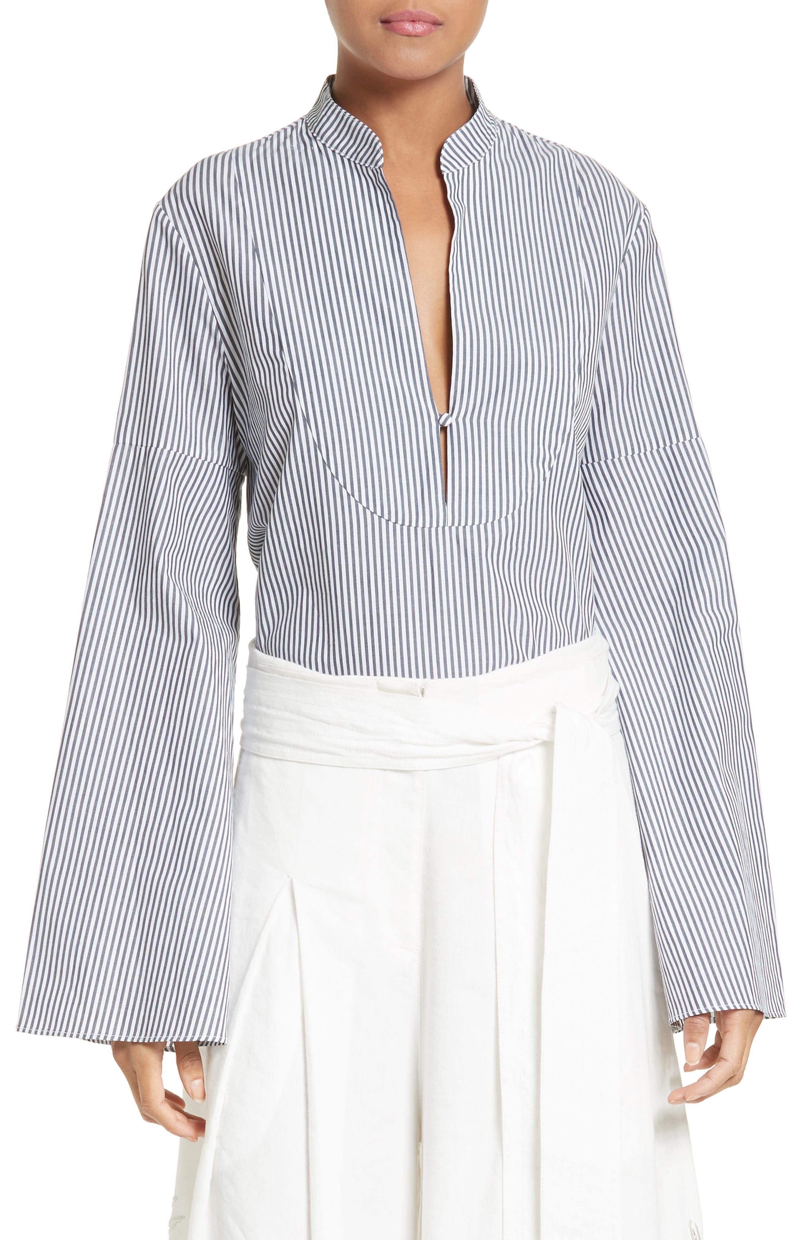 Alternate Image 1 Selected - Tanya Taylor Klara Stripe Bell Sleeve Top