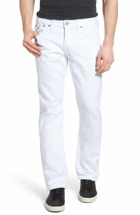 True Religion Brand Jeans Ricky Relaxed Fit Jeans (Optic White) (Regular   Big)
