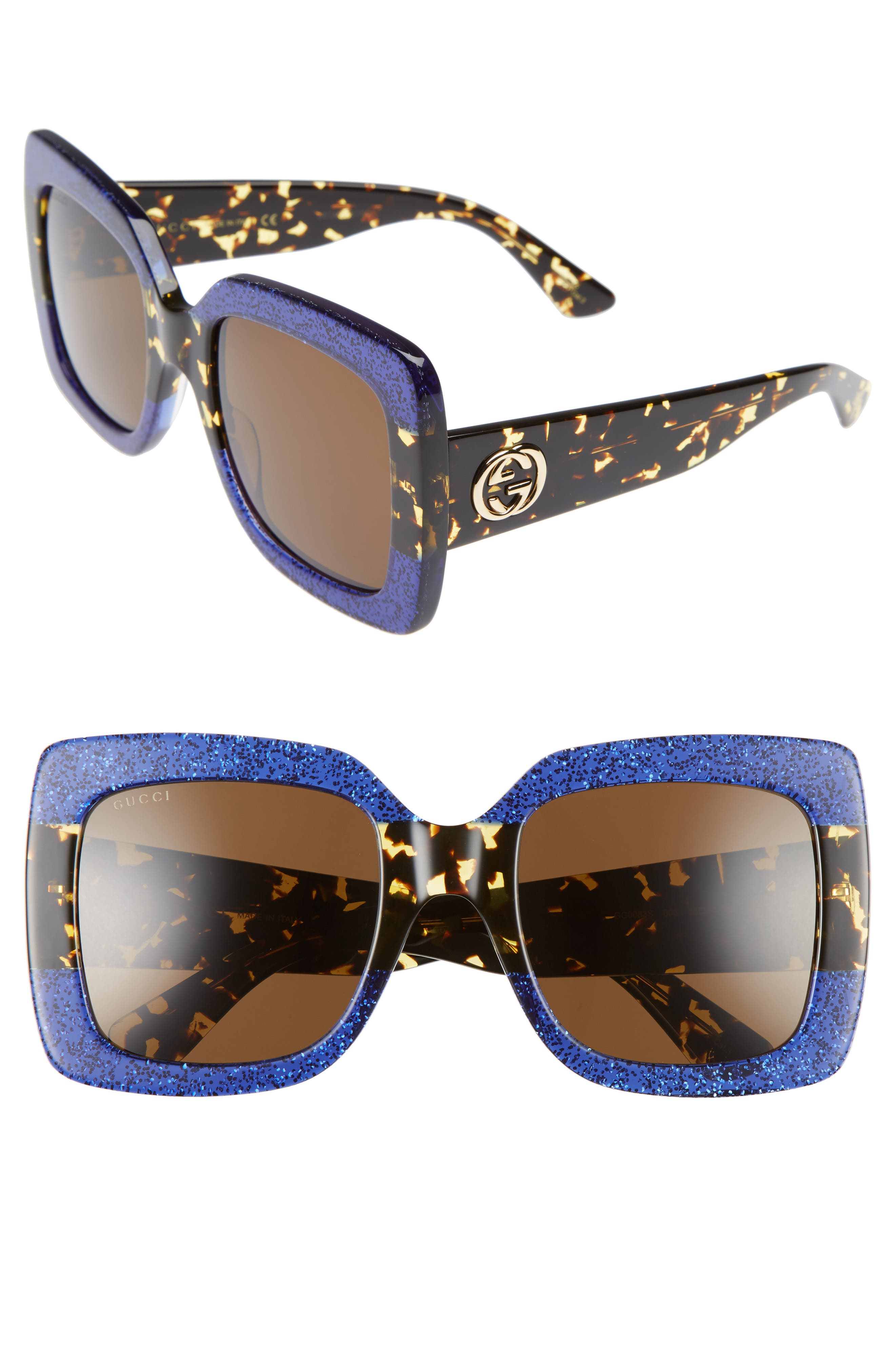 Gucci 55mm Square Sunglasses
