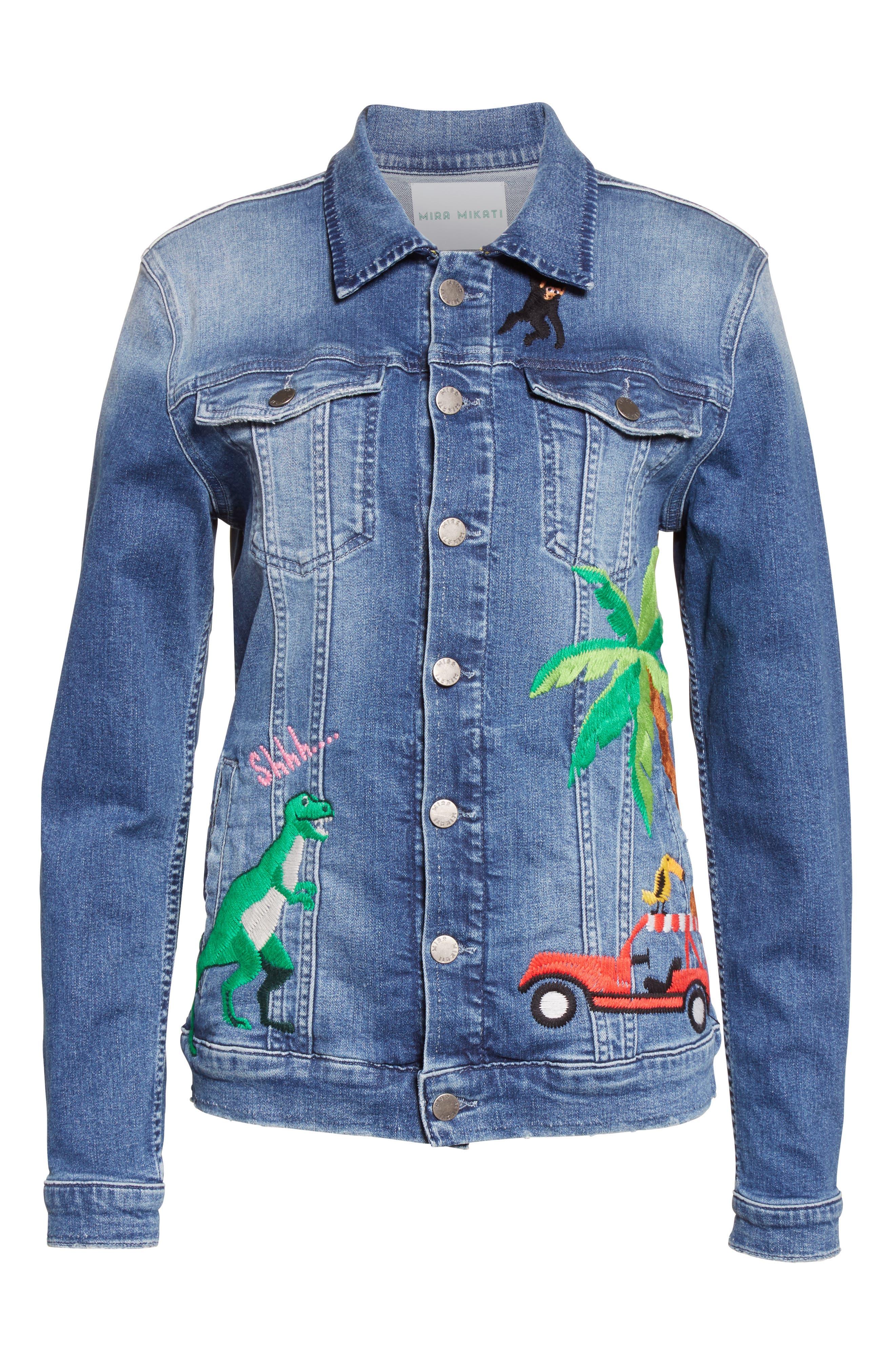 Alternate Image 4  - Mira Mikati Rainforest Embroidered Denim Jacket