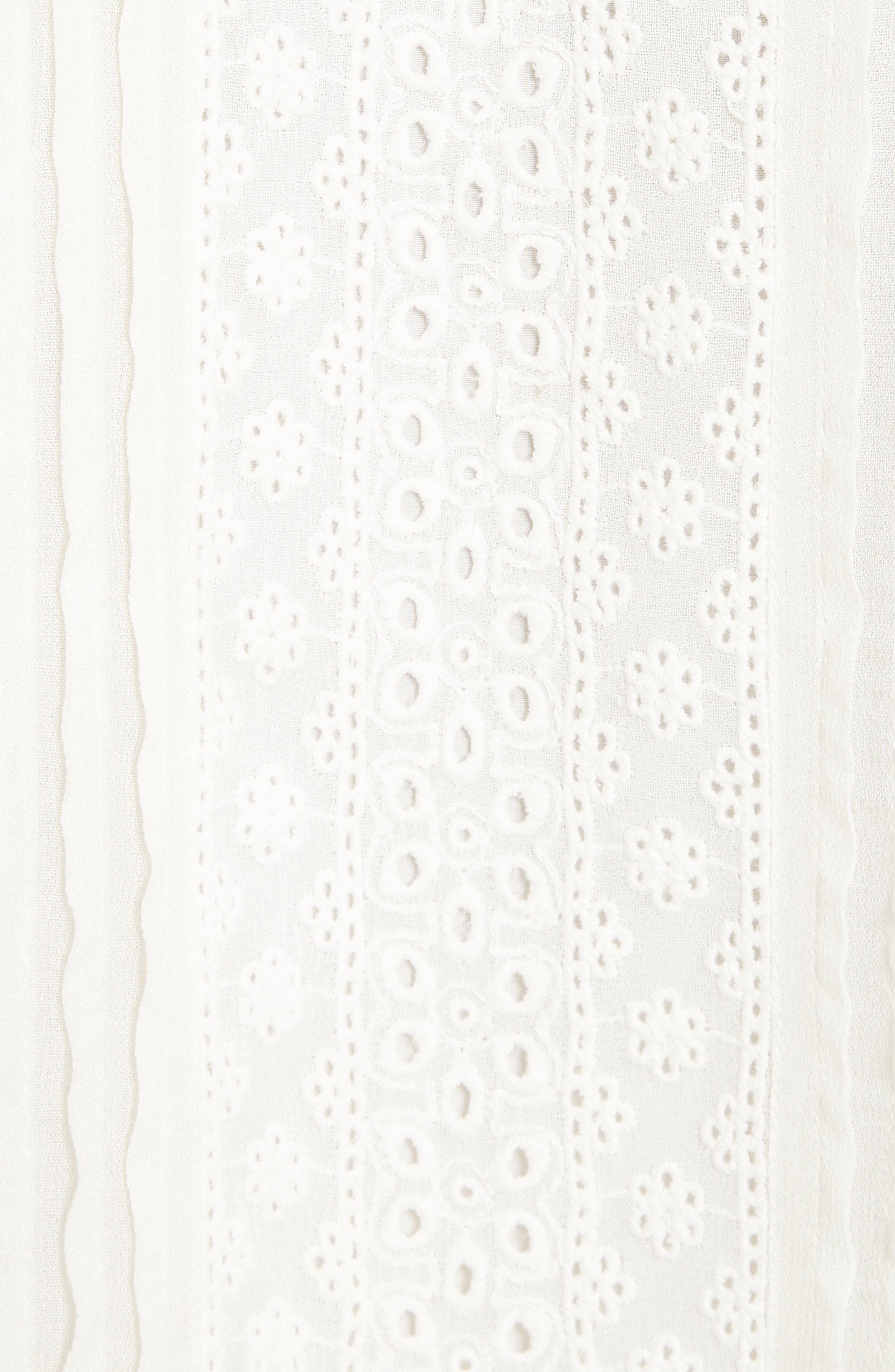 Alternate Image 5  - Alice + Olivia Ofelia Eyelet Embroidered Cold Shoulder Blouse
