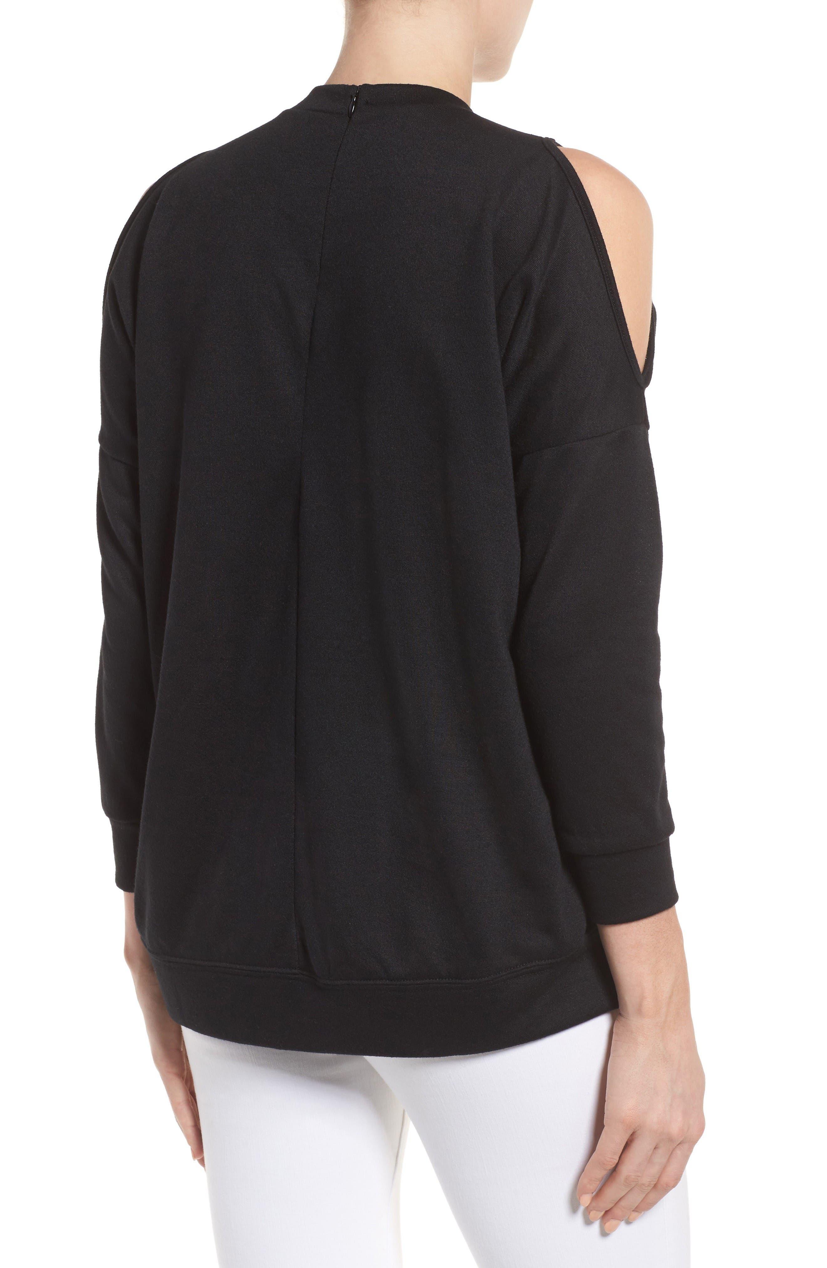 Alternate Image 2  - Bobeau Cold Shoulder Sweatshirt