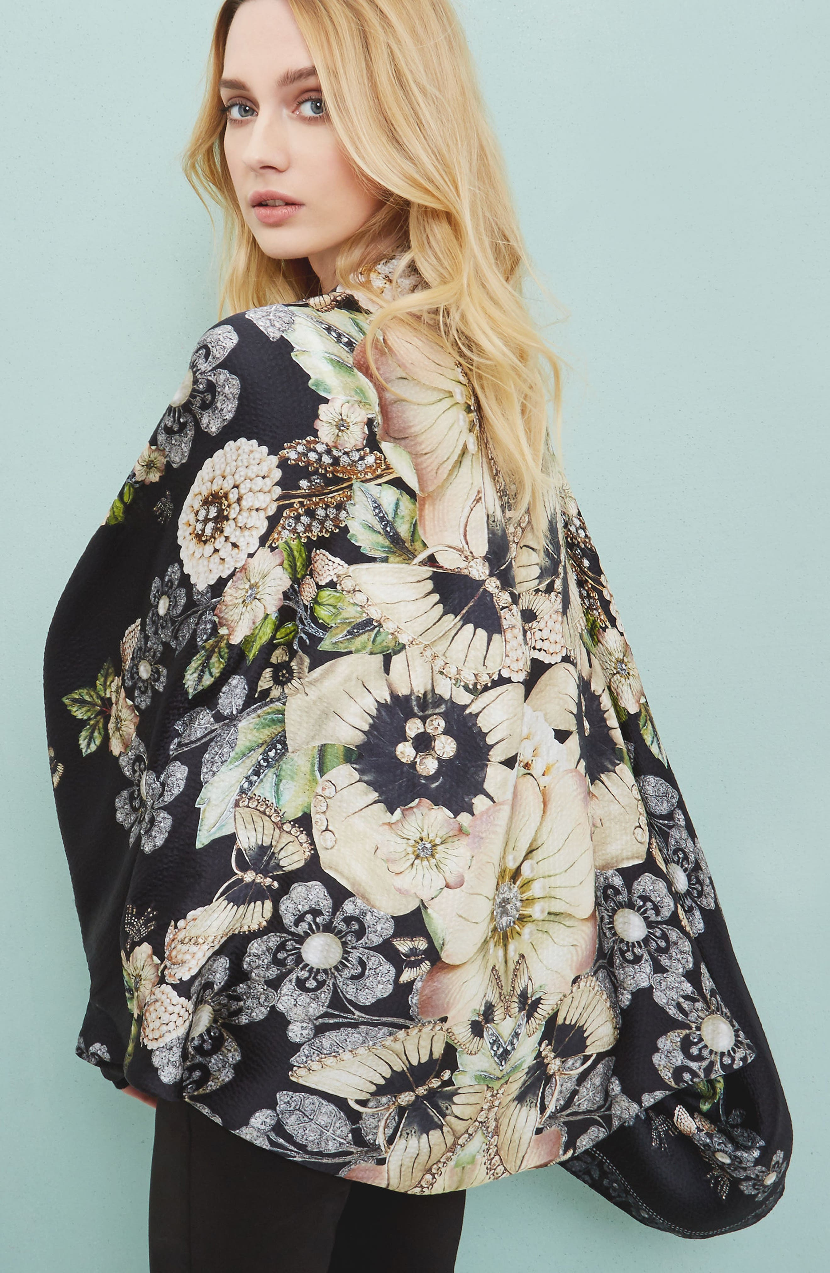 Alternate Image 7  - Ted Baker London Gem Gardens Cape Scarf