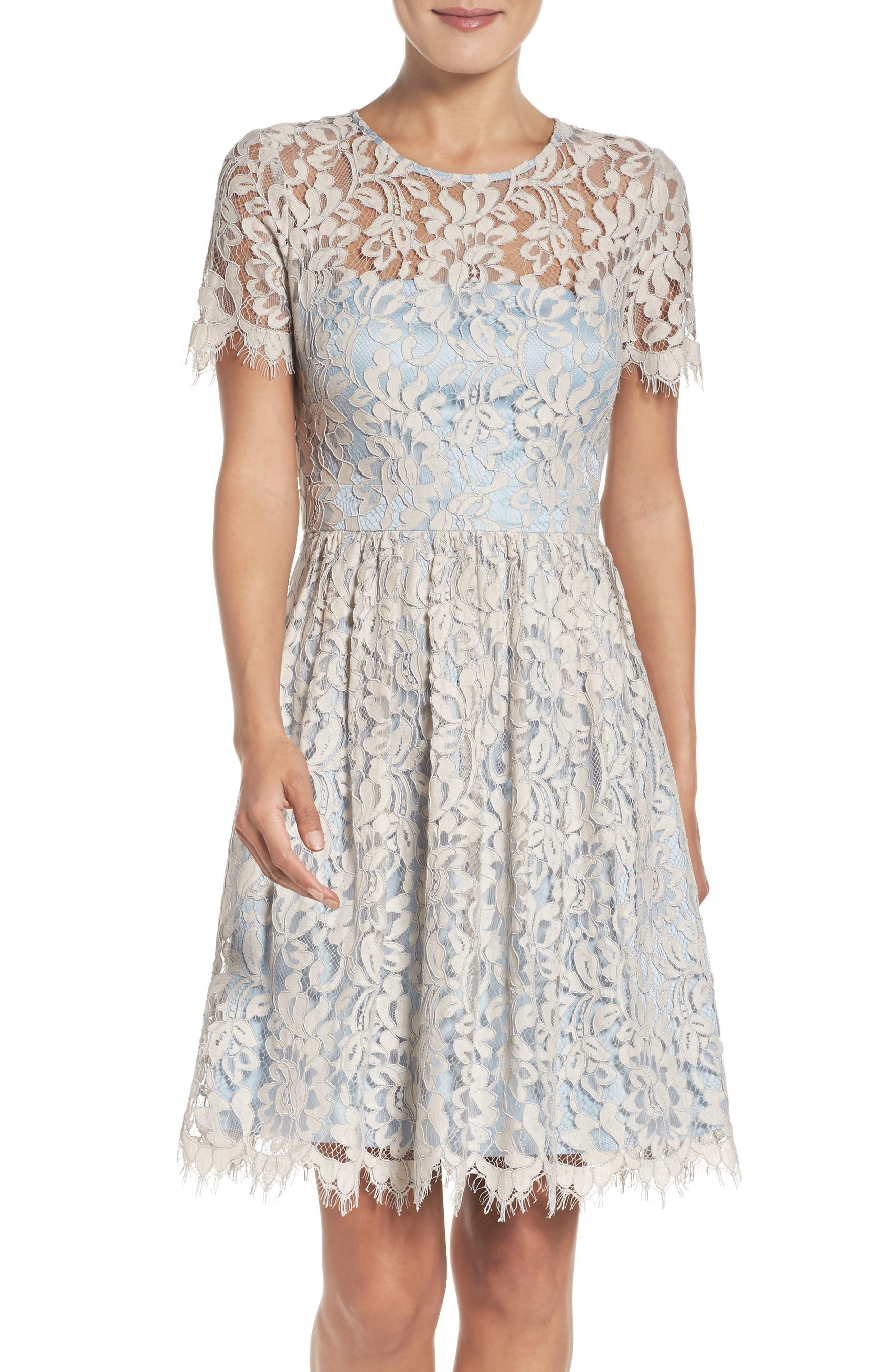 Alternate Image 1 Selected - Eliza J Fit & Flare Dress