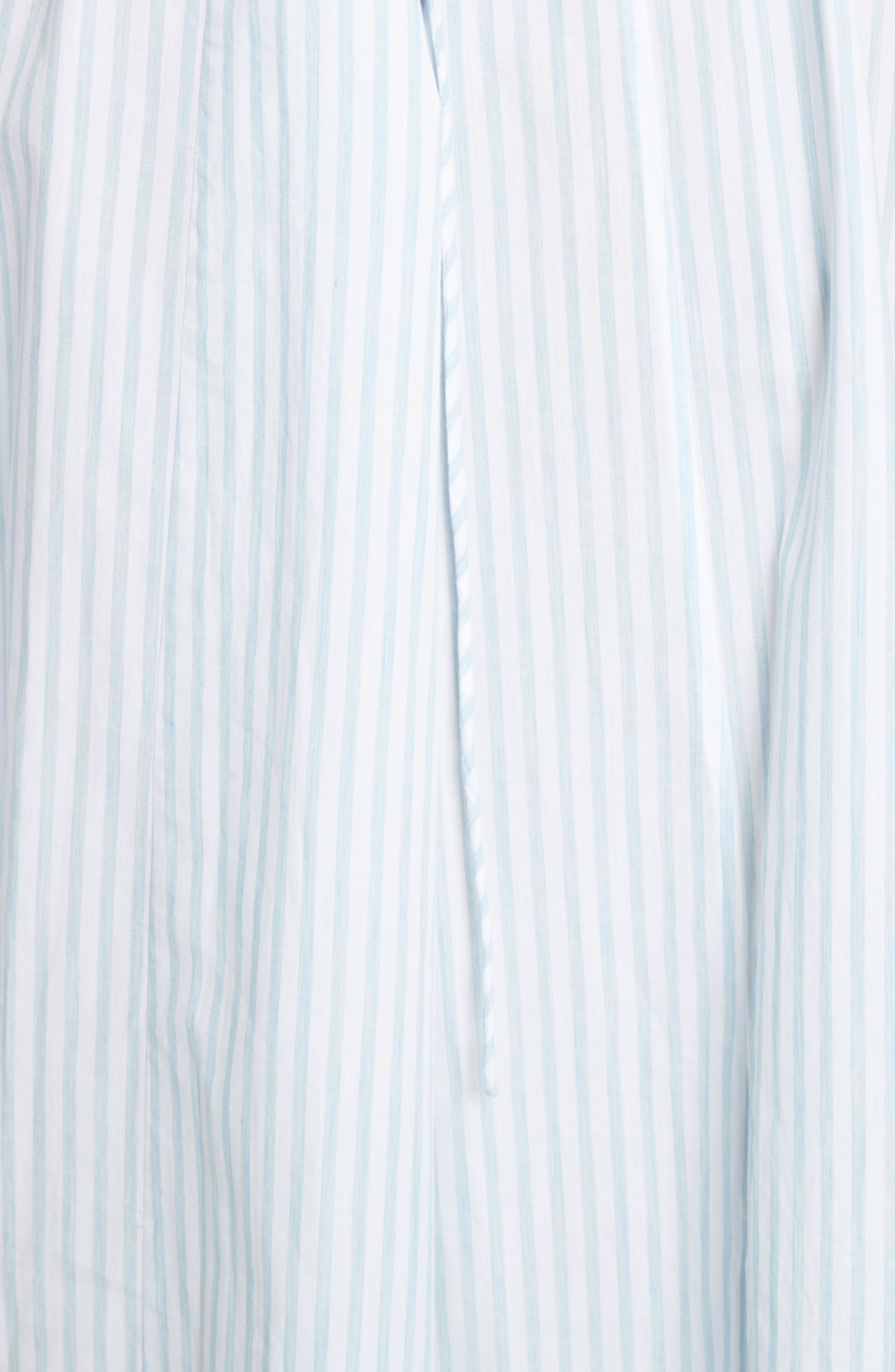 Alternate Image 5  - Tanya Taylor Pari Embroidered Menswear Stripe Dress