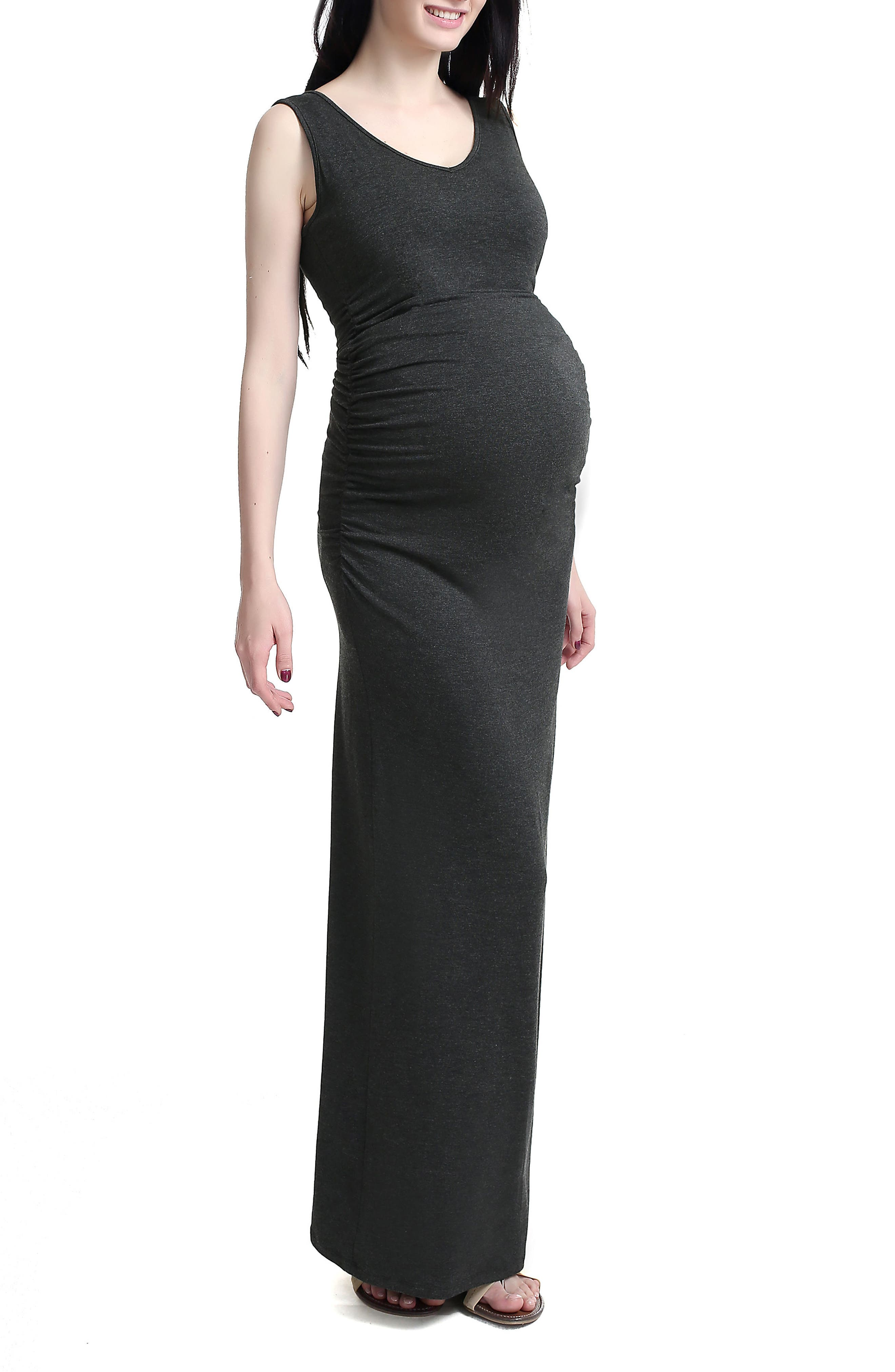 Kimi and Kai 'Jane' V-Neck Maternity Maxi Dress