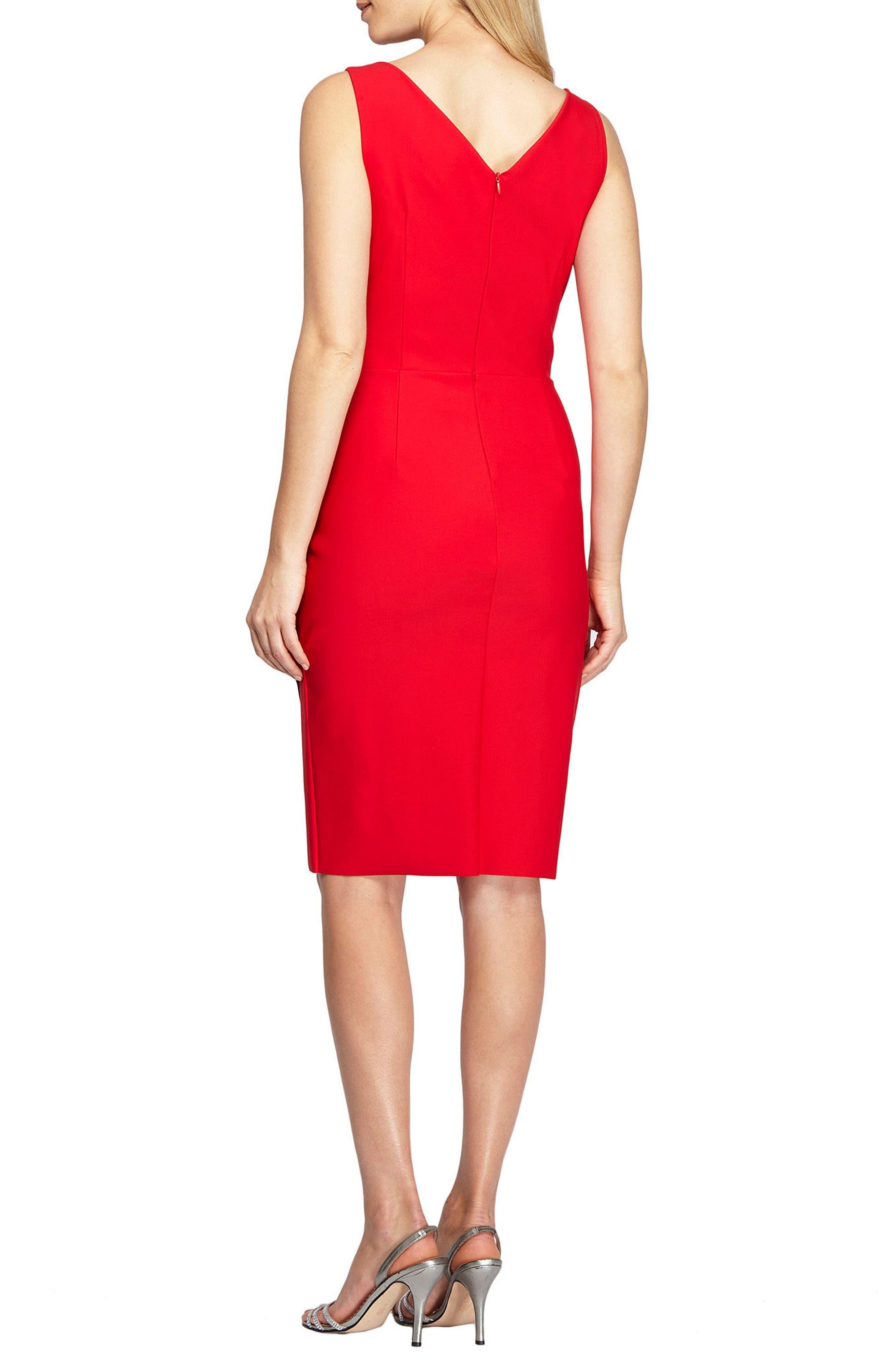 Alternate Image 2  - Alex Evenings Side Ruched Dress (Regular & Petite)