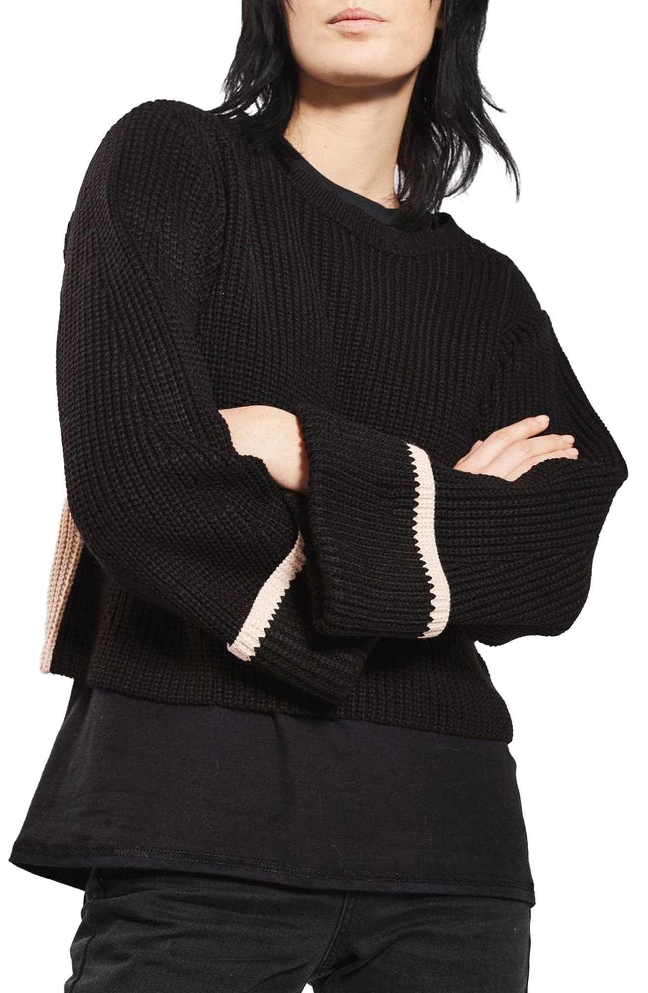 Main Image - Topshop Contrast Back Sweater