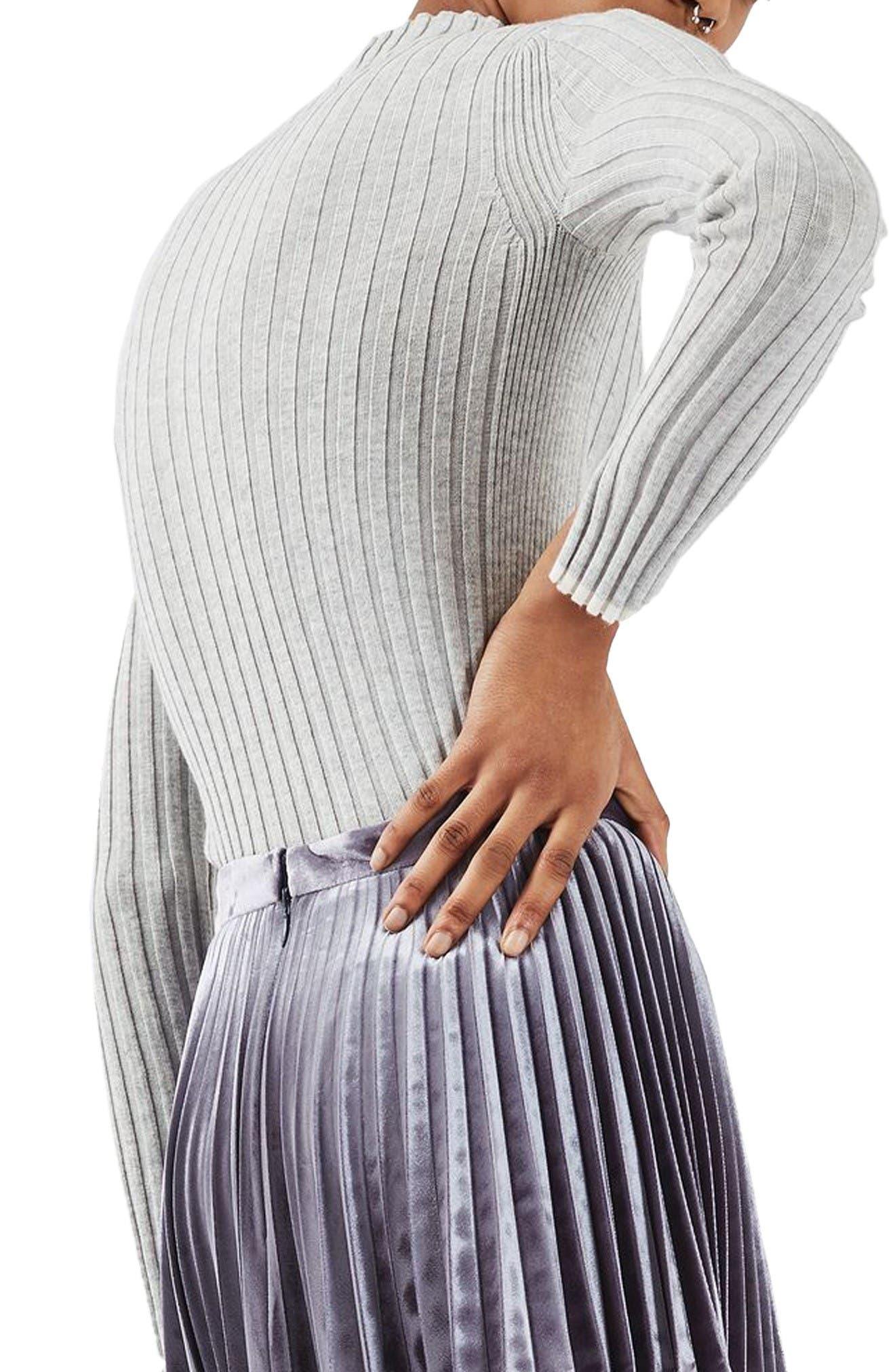Alternate Image 3  - Topshop Ribbed Funnel Neck Sweater