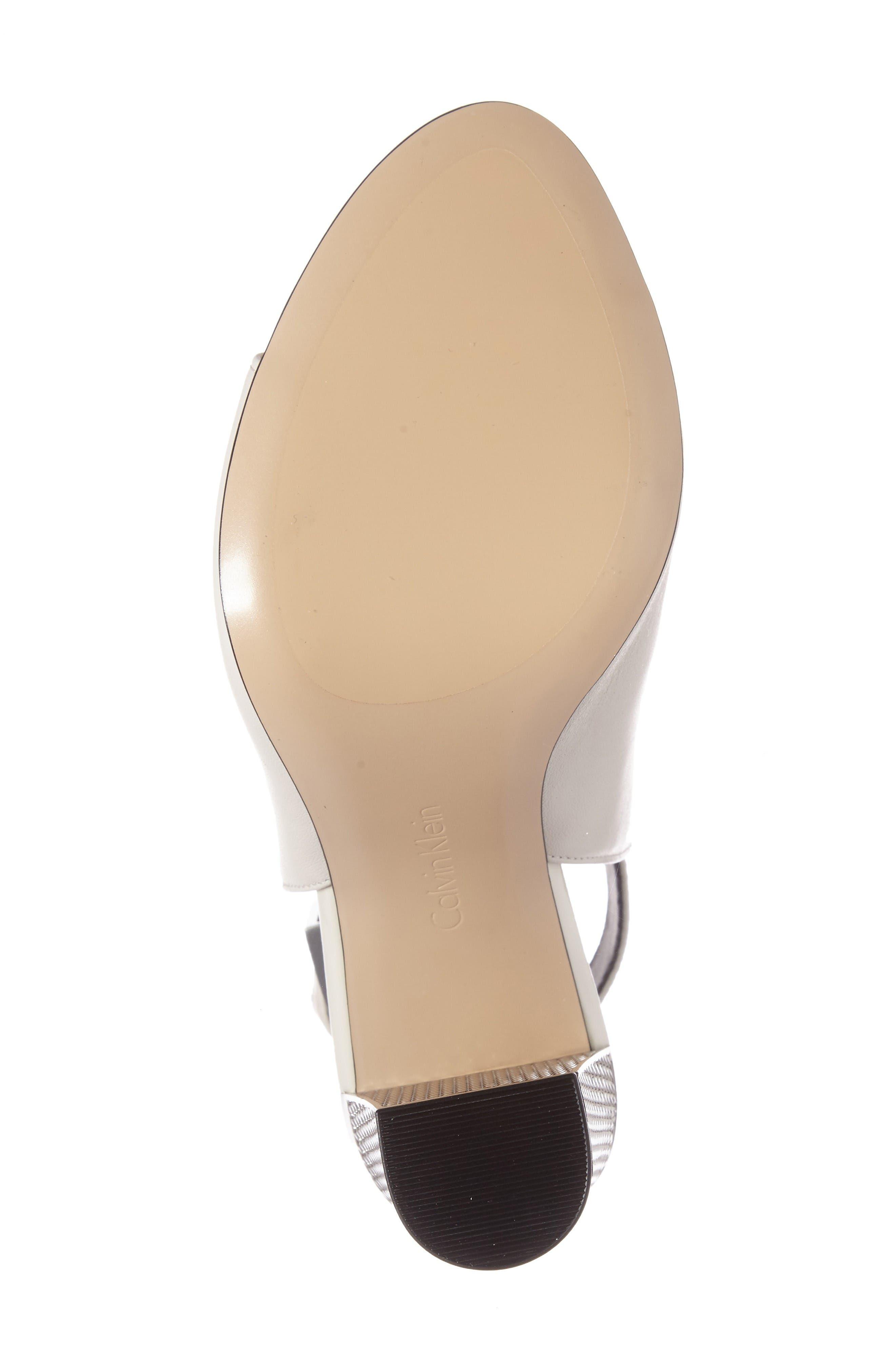 Alternate Image 4  - Calvin Klein Norah Metallic Heel Sandal (Women)