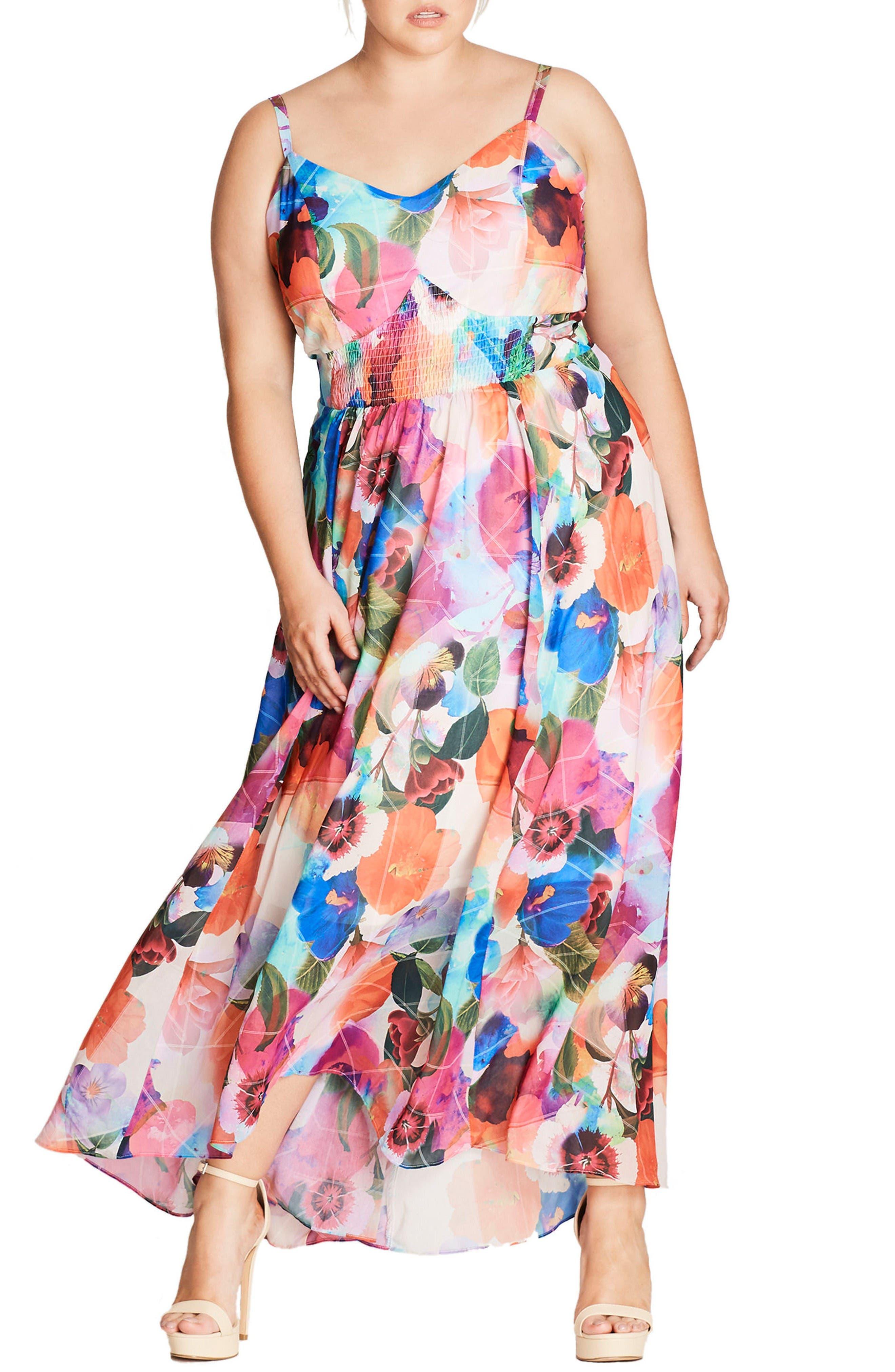 City Chic Pretty Day Maxi Dress (Plus Size)