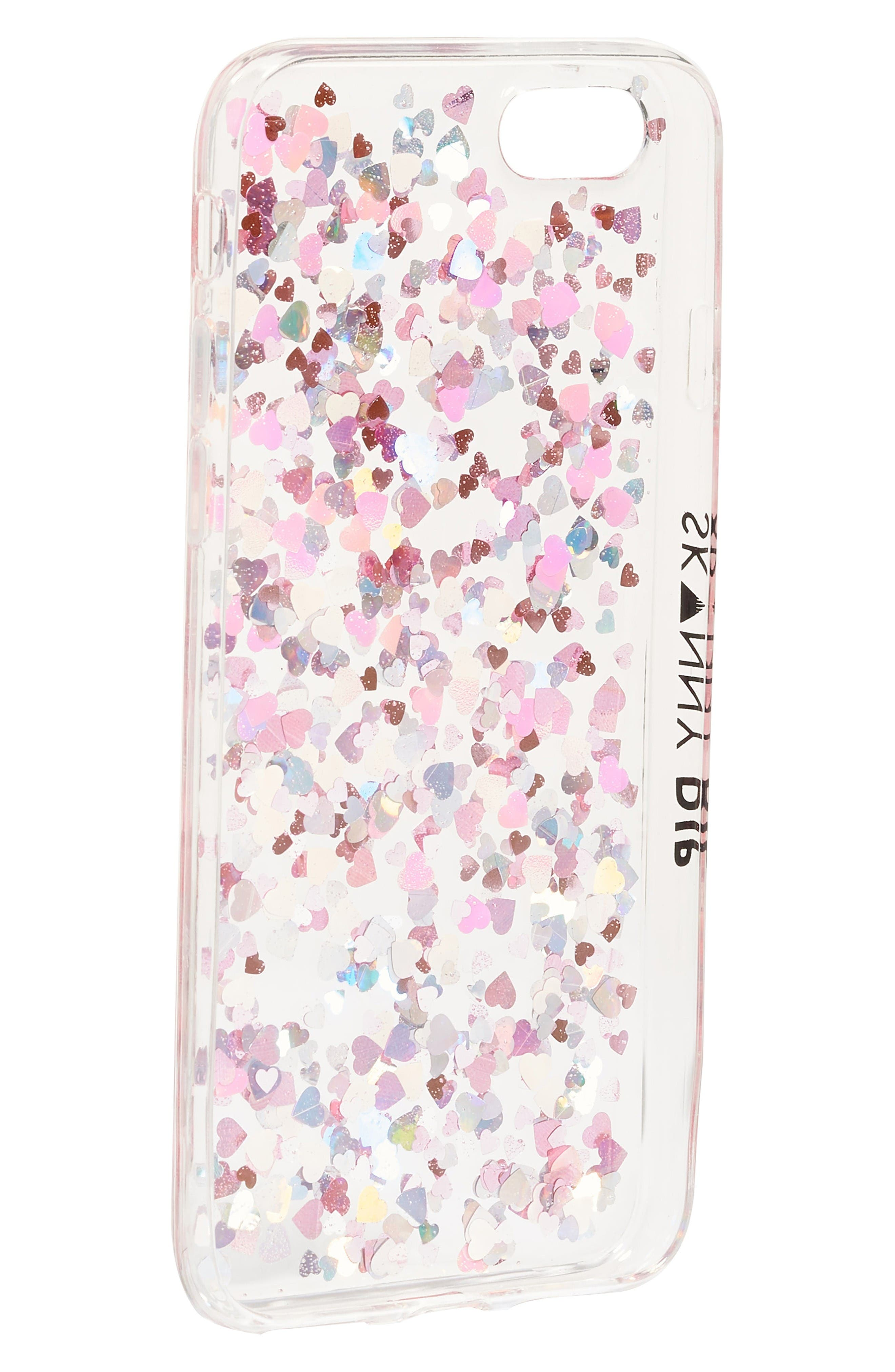 Alternate Image 2  - Skinnydip Heart Sequin iPhone 6/7 Case