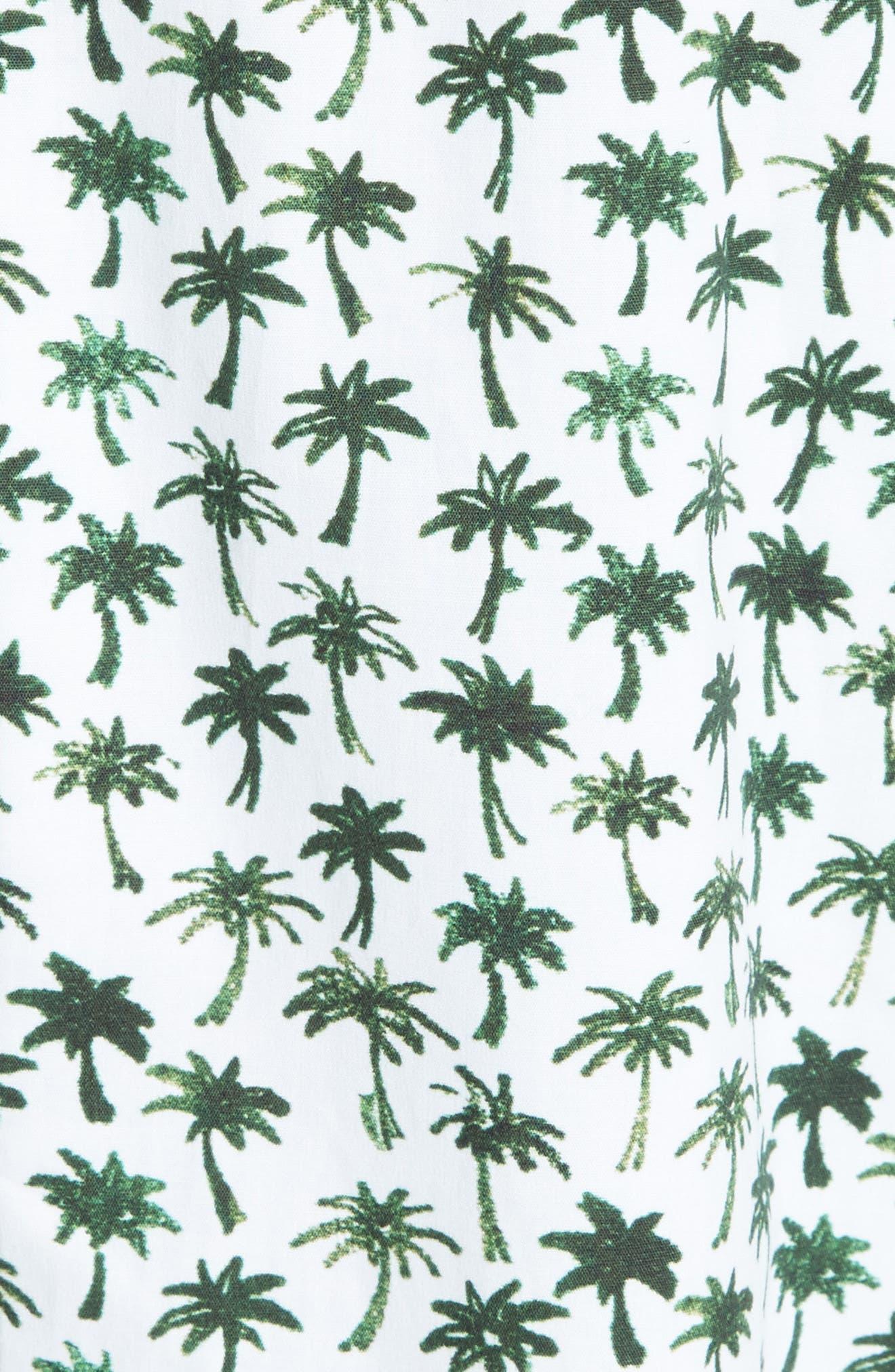 Alternate Image 5  - Milly Bambino Palm Print Midi Dress