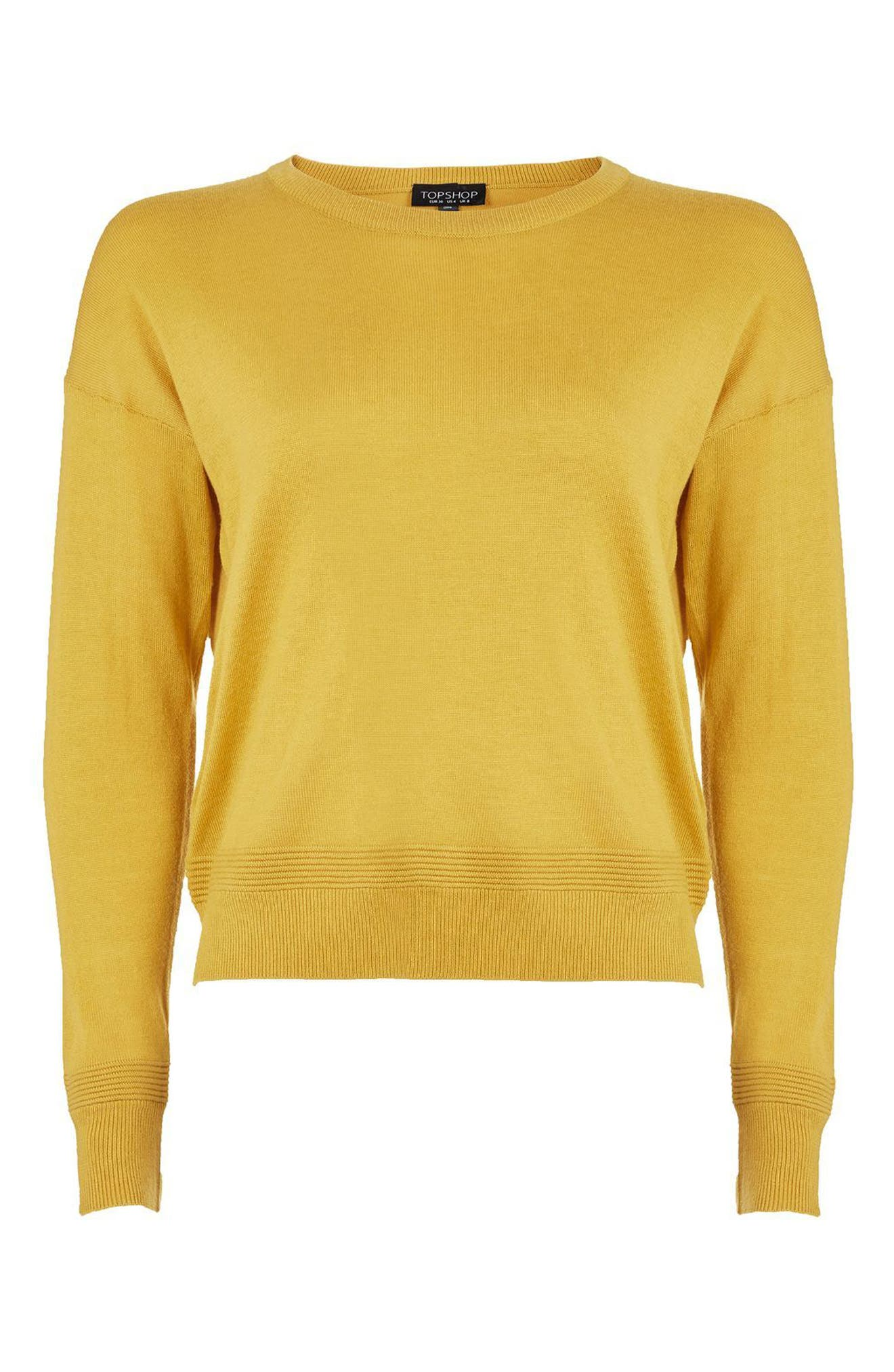 Alternate Image 4  - Topshop Ottoman Rib Border Sweater