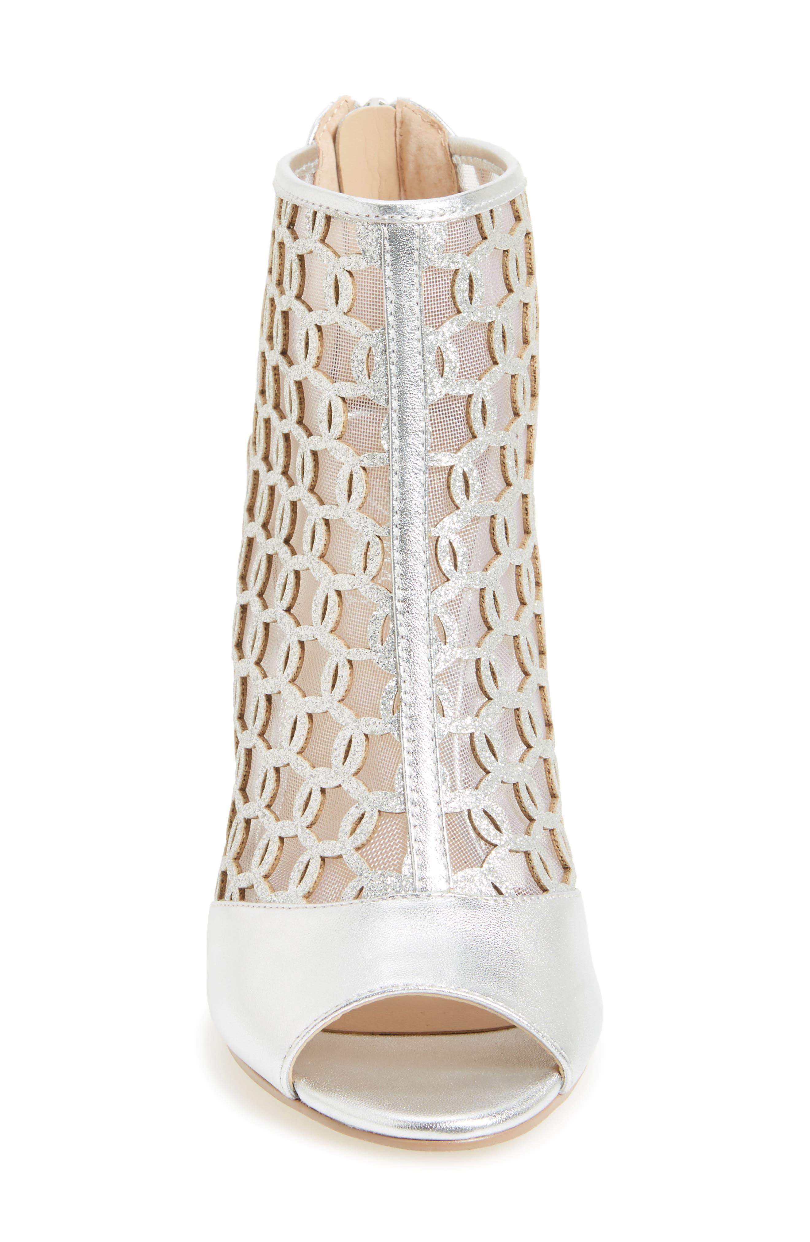 Alternate Image 3  - Jewel Badgley Mischka Holt II Glittery Cage Sandal (Women)