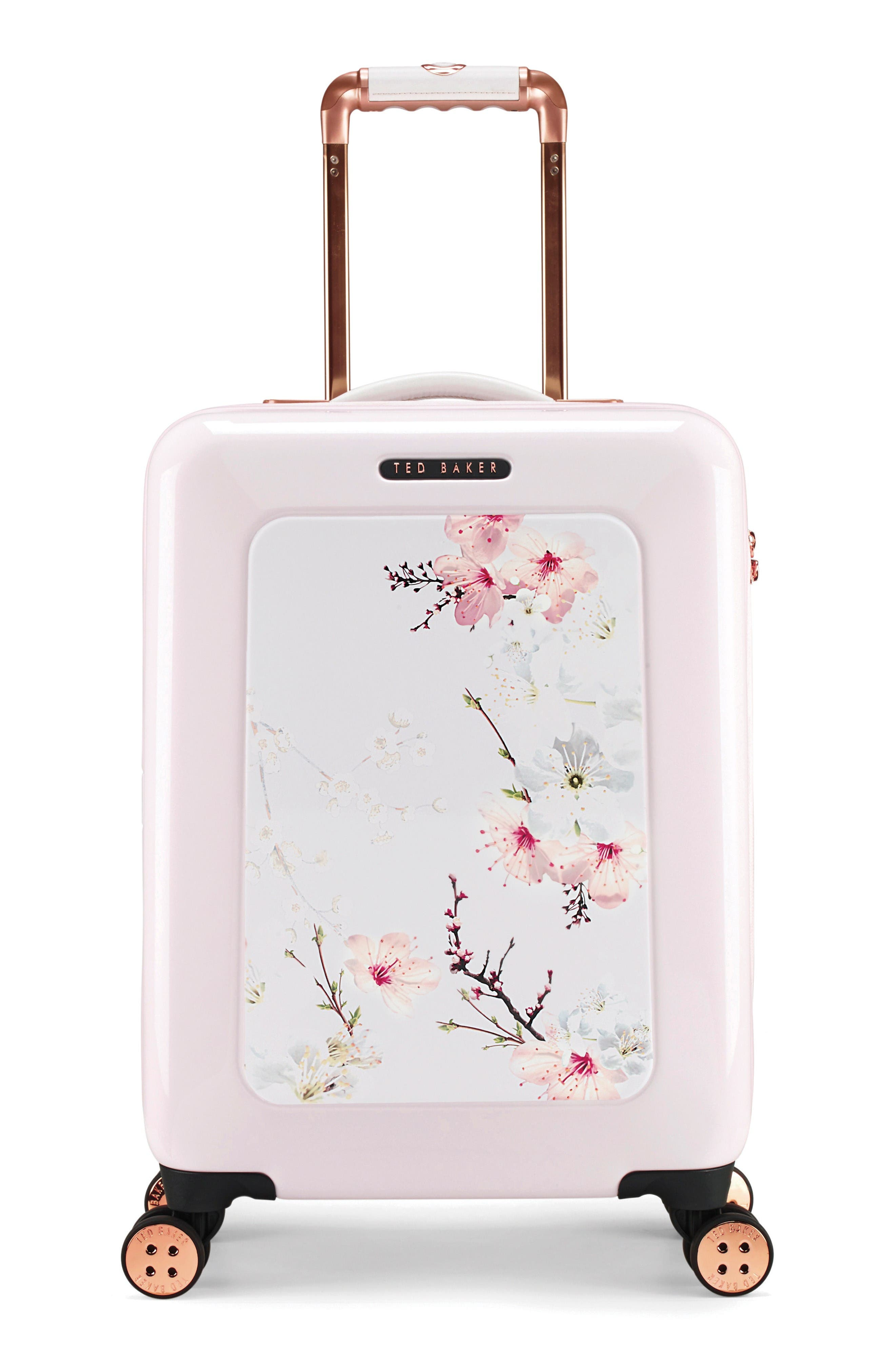 Main Image - Ted Baker London Small Four-Wheel Suitcase (21 Inch)
