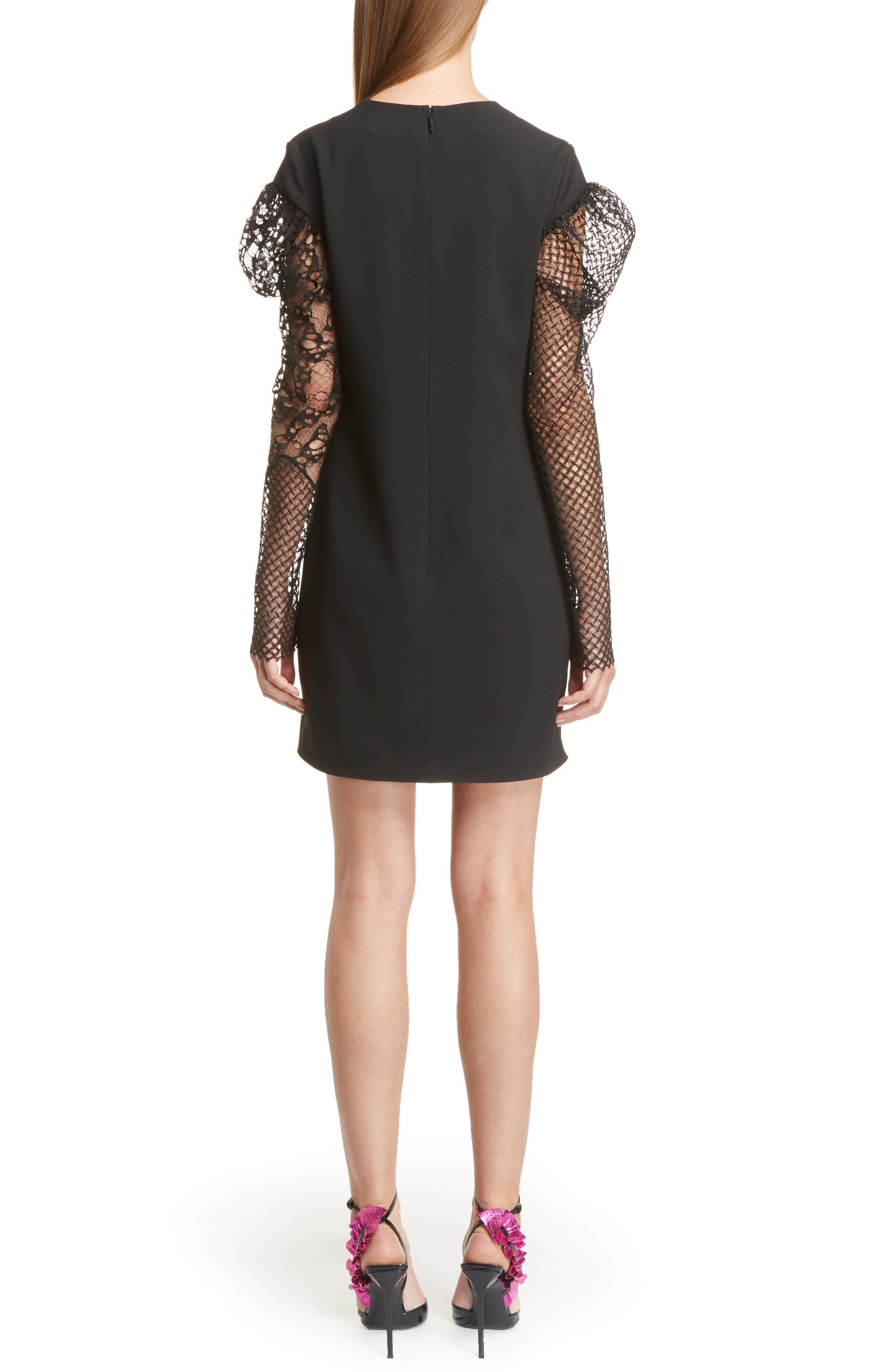 Alternate Image 2  - Saint Laurent Lace Balloon Sleeve Dress