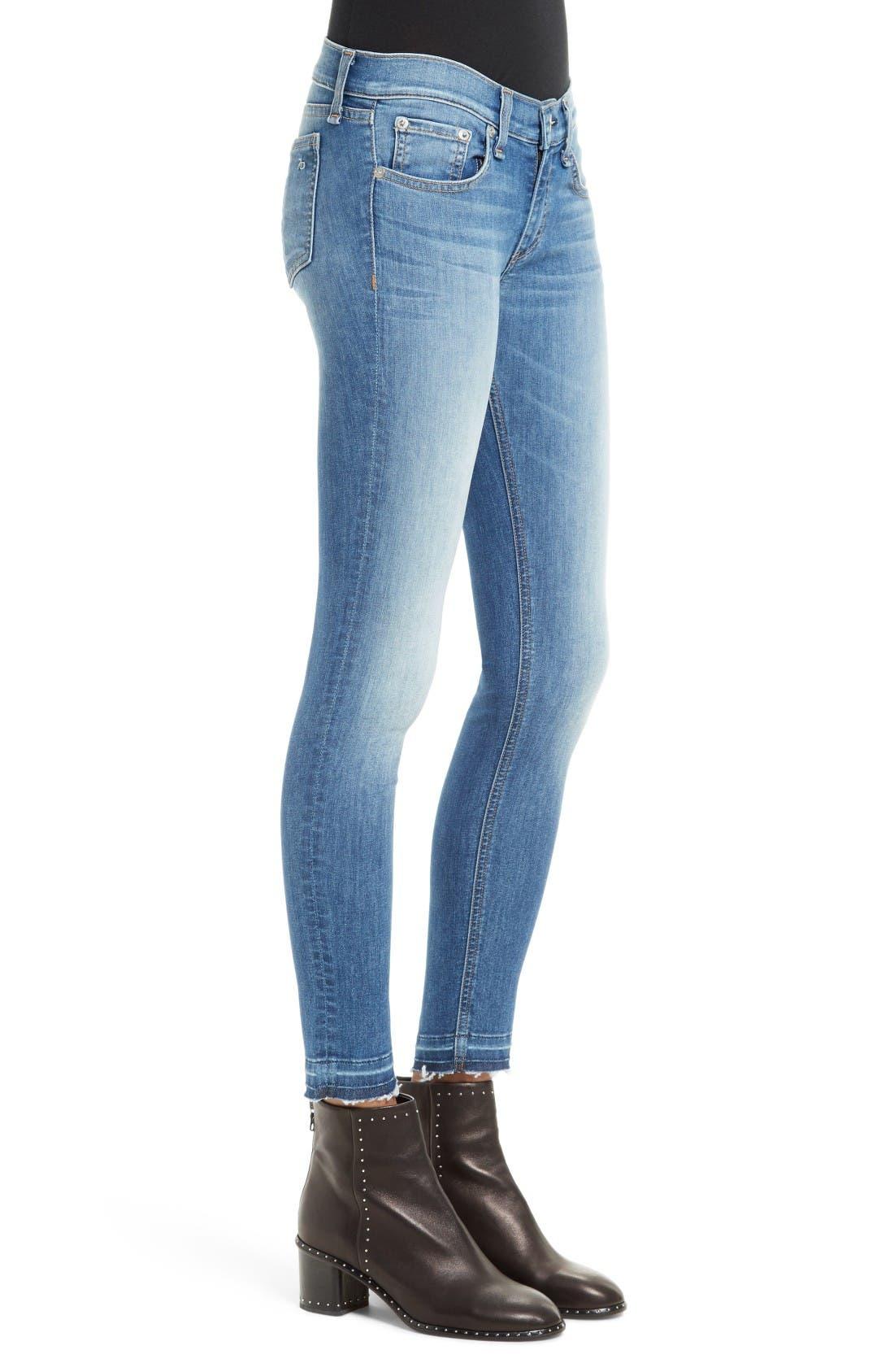 Alternate Image 3  - rag & bone/JEAN Capri Skinny Jeans (Clean Lilly Dale)