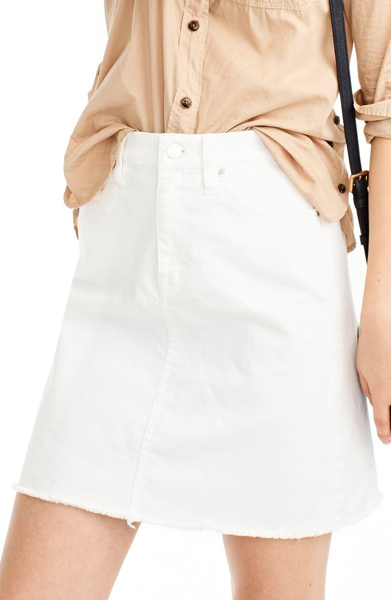 J.Crew Let-Out Hem Denim Skirt (Regular & Petite)