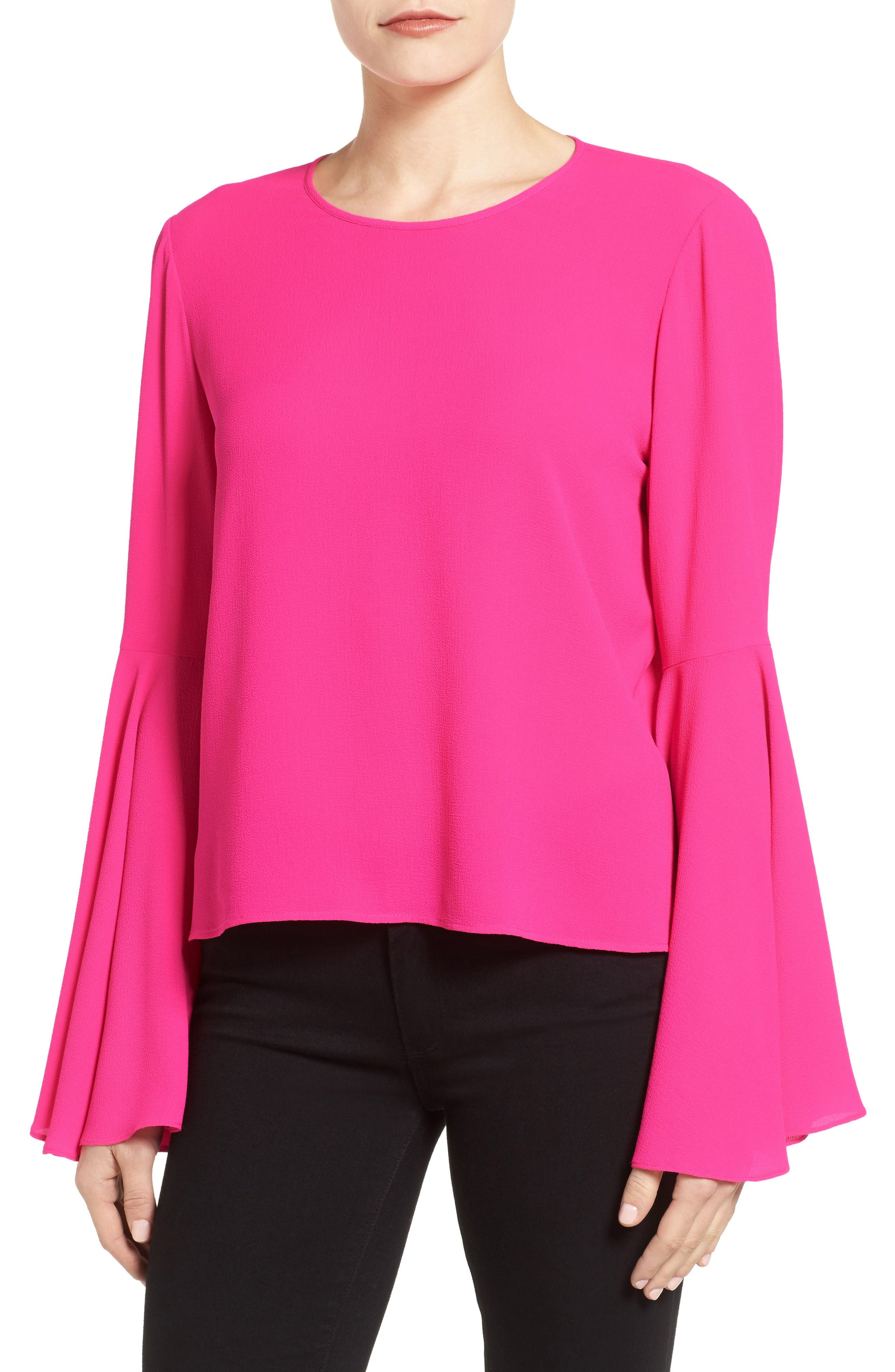 Alternate Image 1 Selected - Vince Camuto Bell Sleeve Blouse