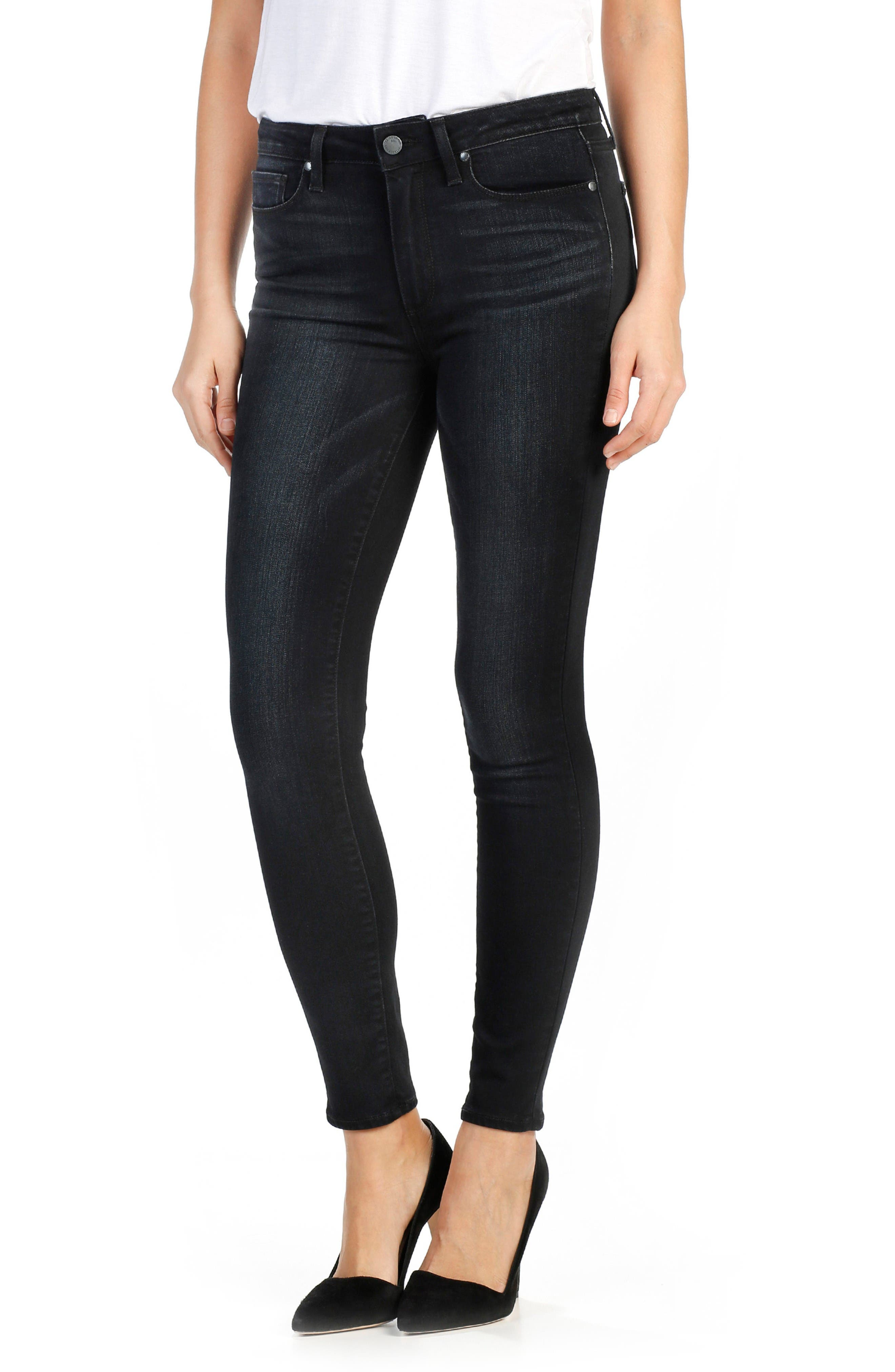 PAIGE Hoxton High Waist Ankle Skinny Jeans (Cassidy)