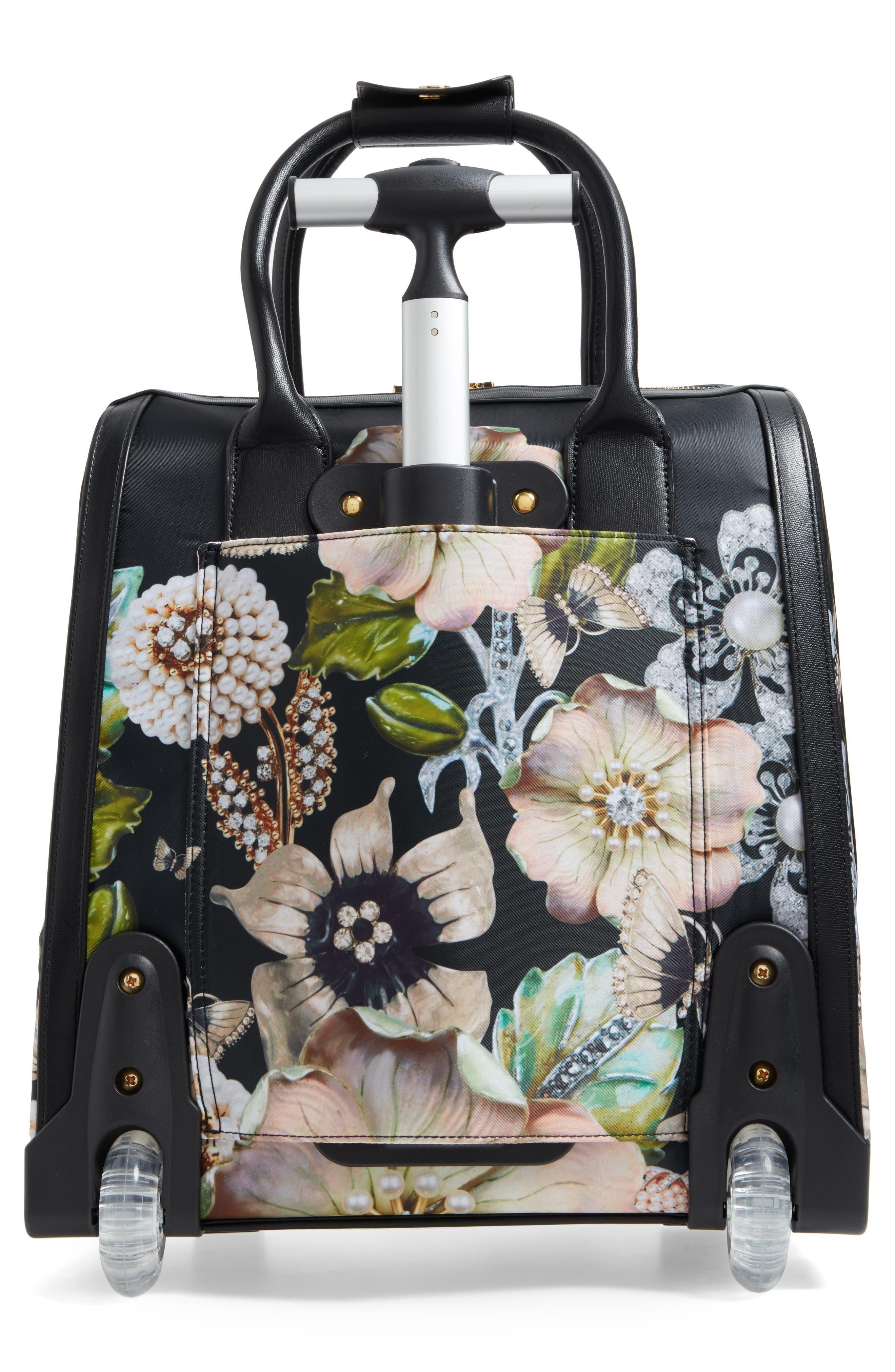 Alternate Image 2  - Ted Baker London Inez Gem Gardens Two-Wheel Travel Bag (16 Inch)