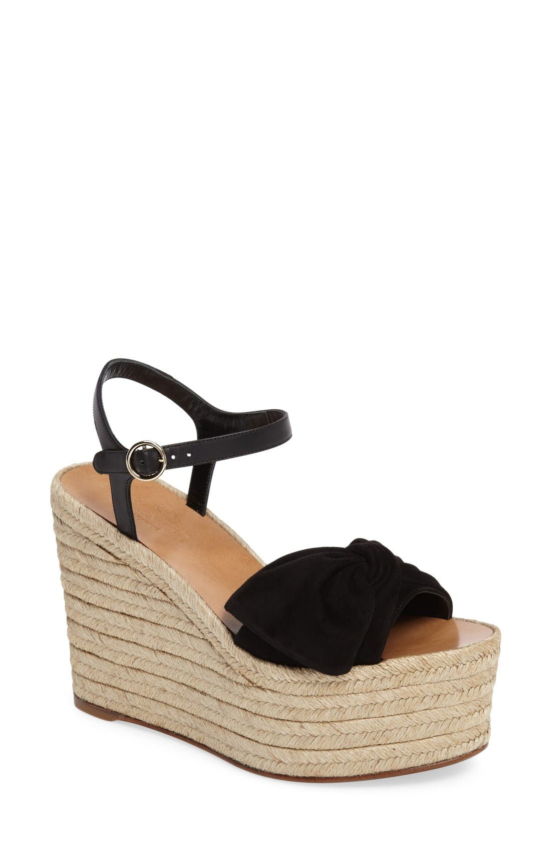 VALENTINO 'Bow' Espadrille Wedge Sandal