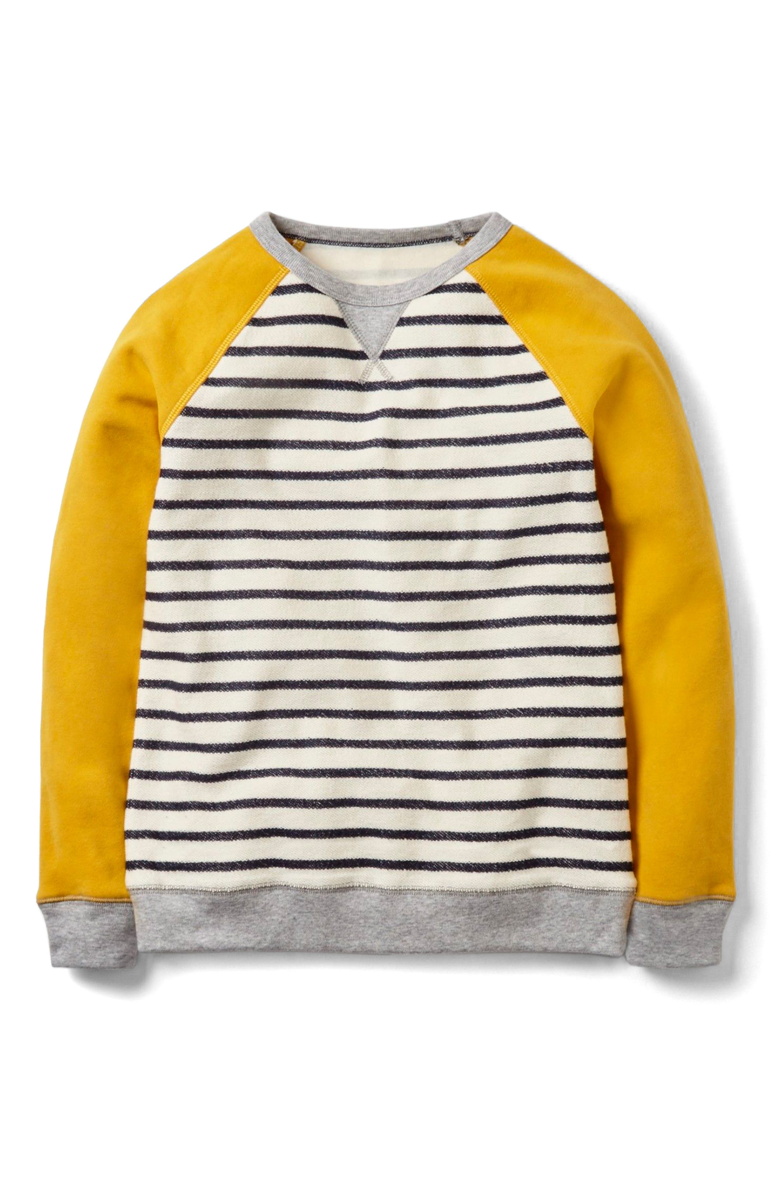 Main Image - Mini Boden Essential Sweatshirt (Toddler Boys, Little Boys & Big Boys)