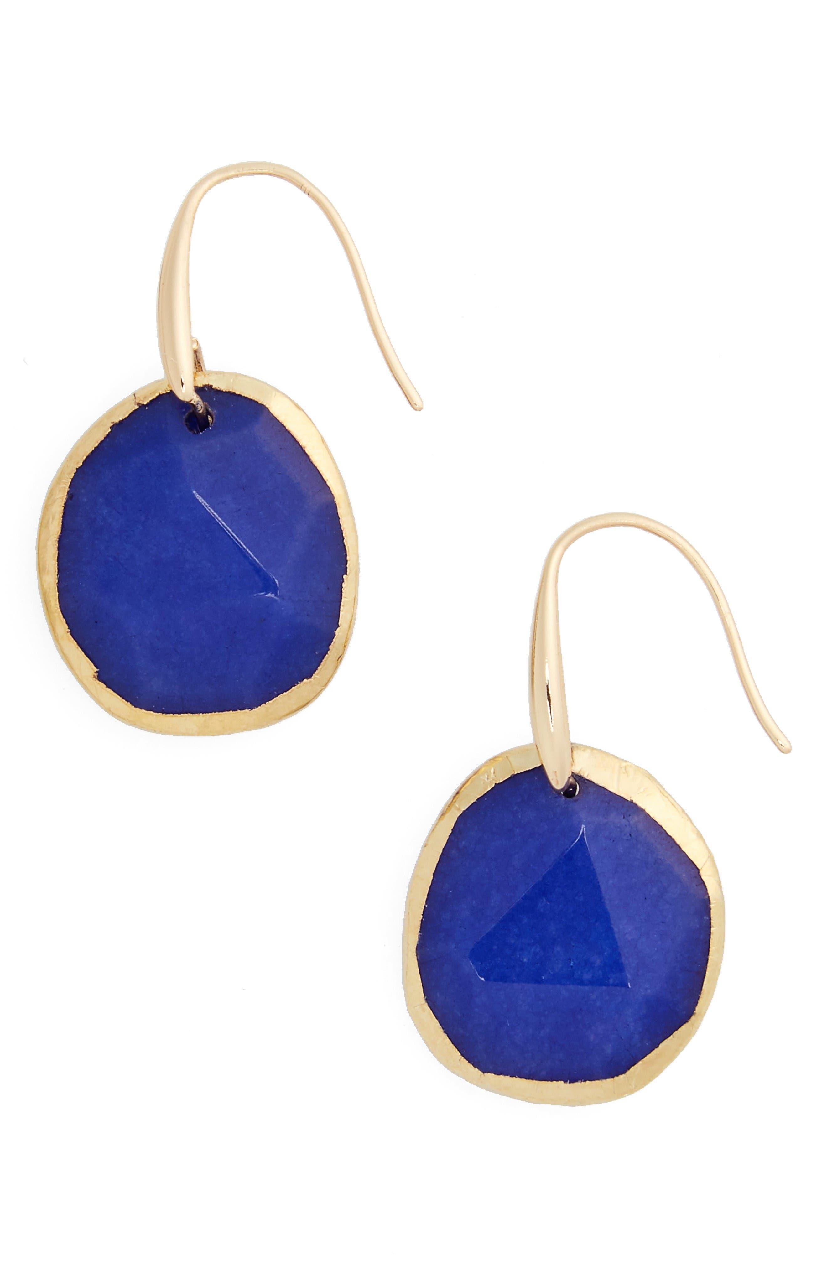Alternate Image 1 Selected - Nordstrom Semiprecious Stone Drop Earrings